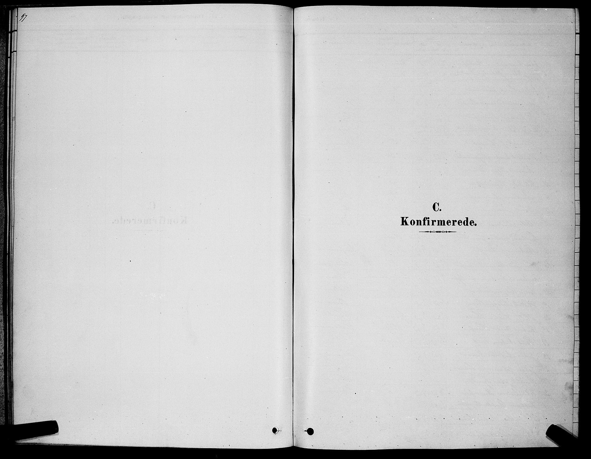 SAKO, Kongsberg kirkebøker, G/Ga/L0005: Klokkerbok nr. 5, 1878-1889, s. 97