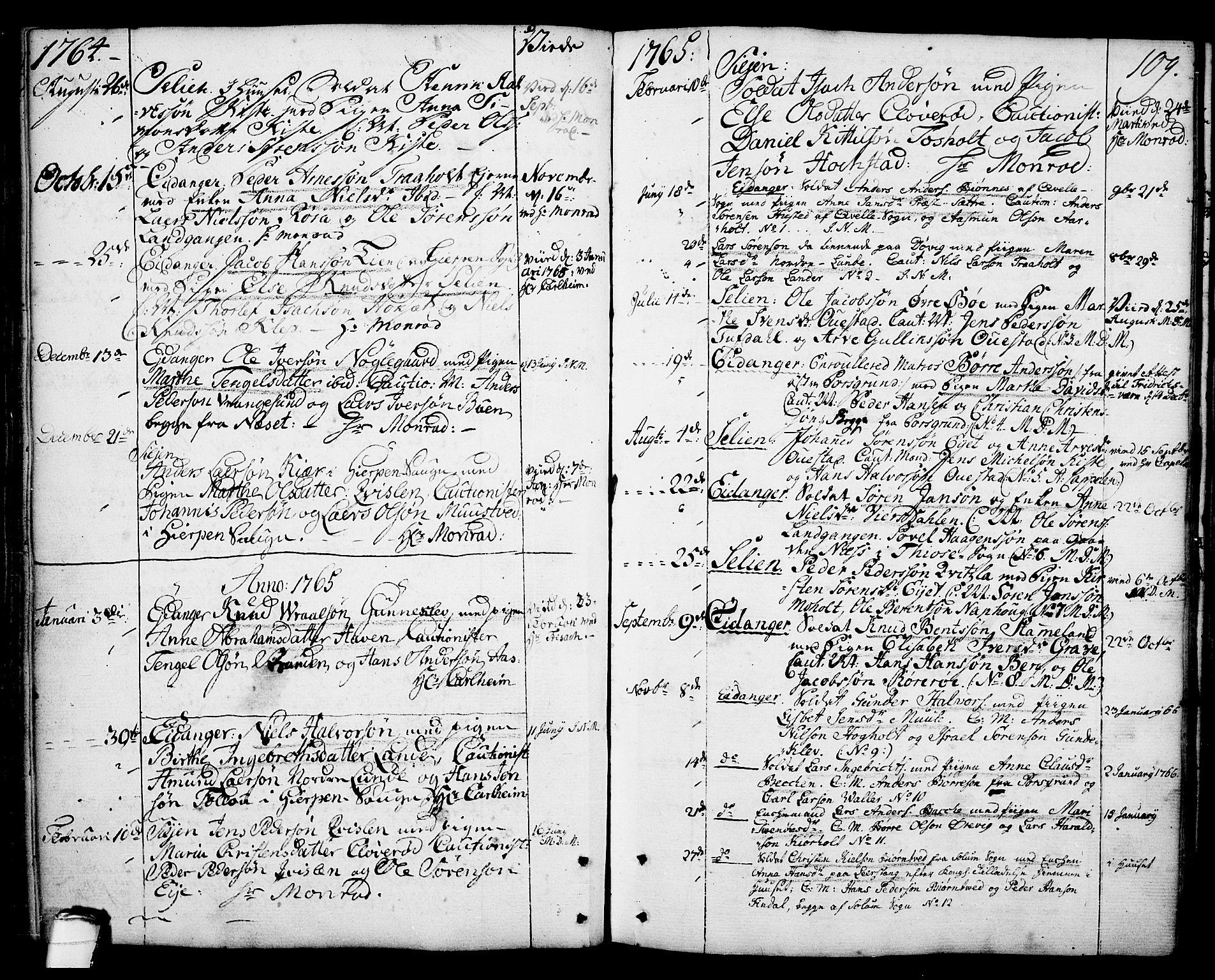 SAKO, Eidanger kirkebøker, F/Fa/L0006: Ministerialbok nr. 6, 1764-1814, s. 109