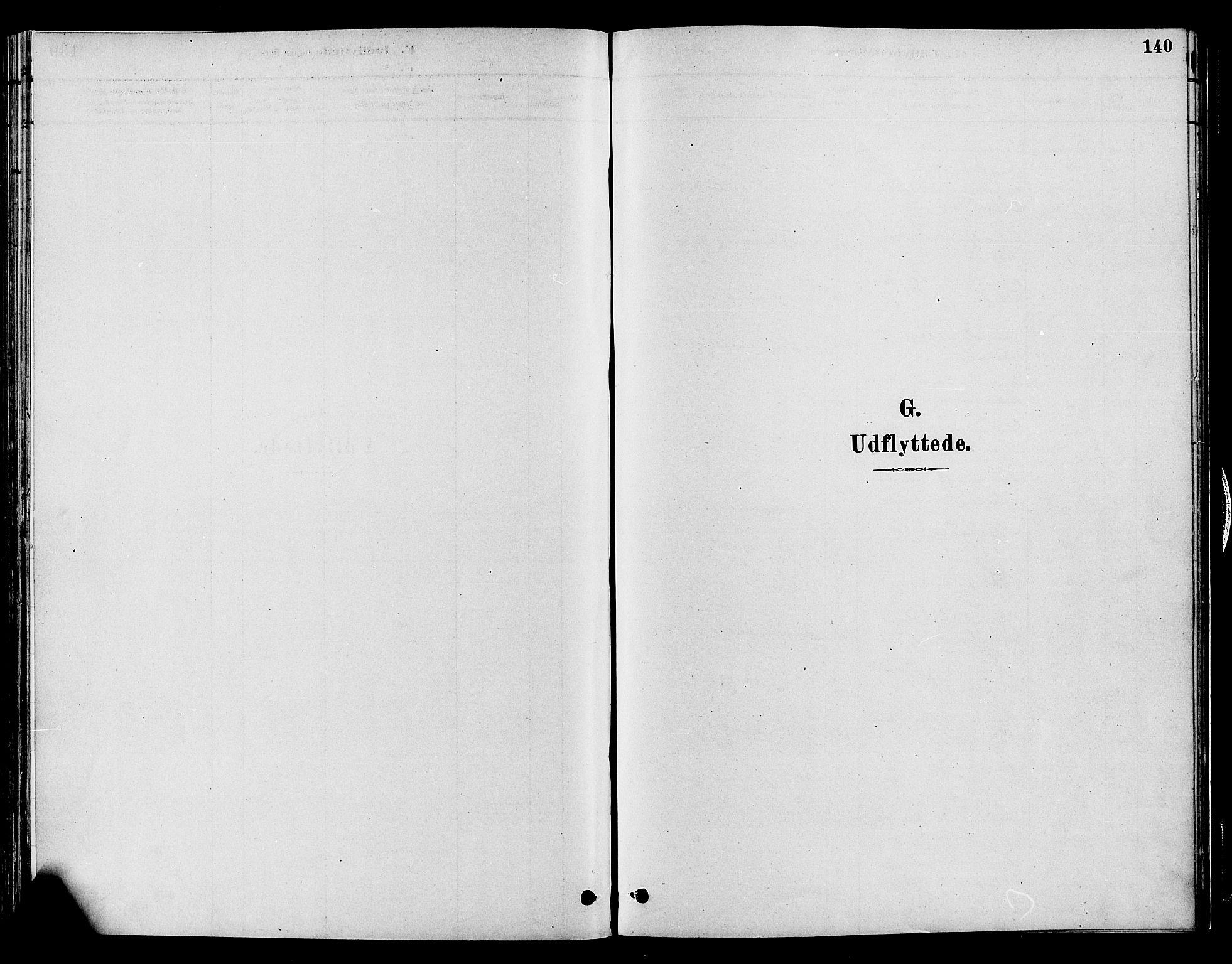 SAH, Gran prestekontor, Ministerialbok nr. 15, 1880-1888, s. 140