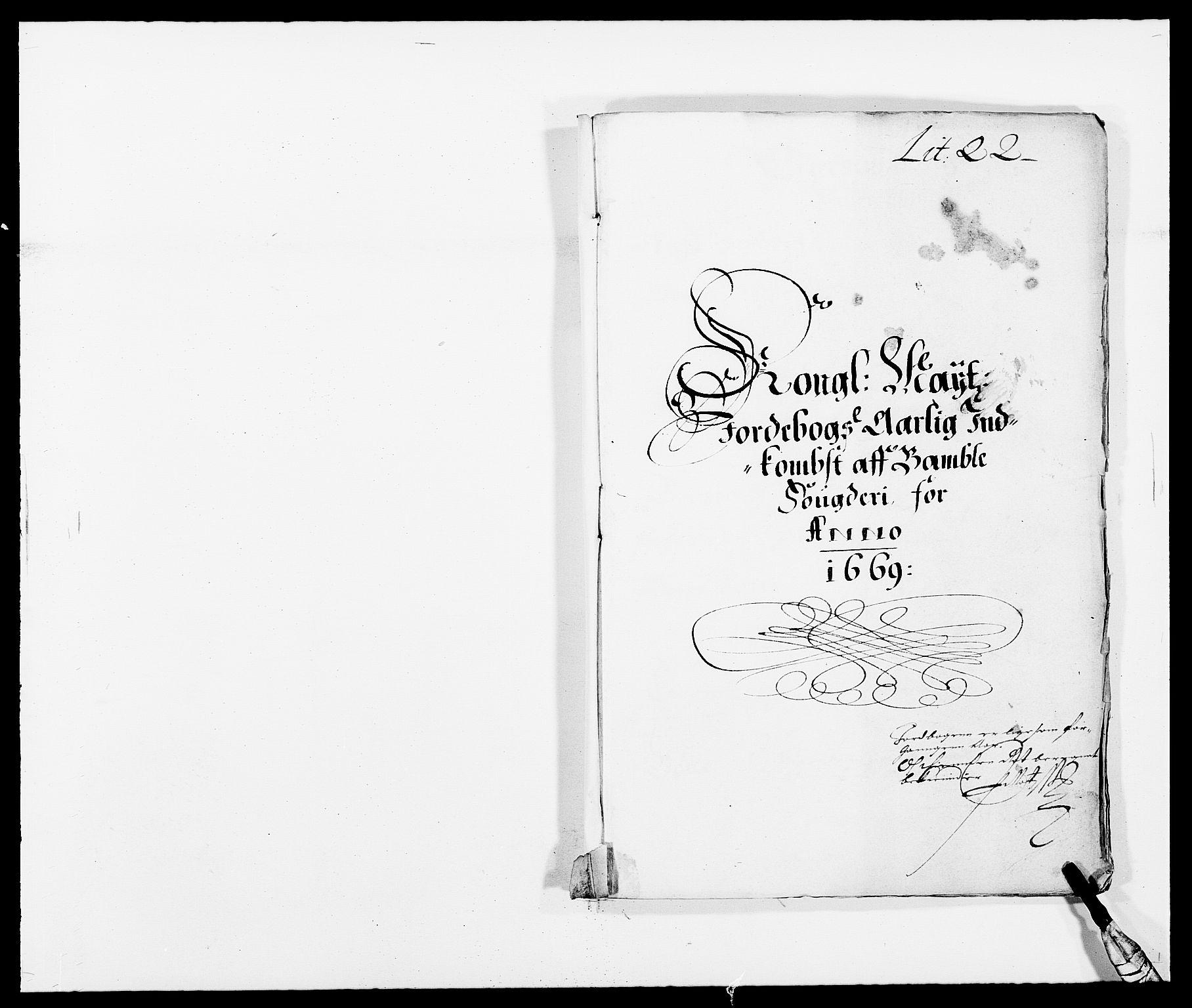 RA, Rentekammeret inntil 1814, Reviderte regnskaper, Fogderegnskap, R34/L2040: Fogderegnskap Bamble, 1662-1669, s. 222