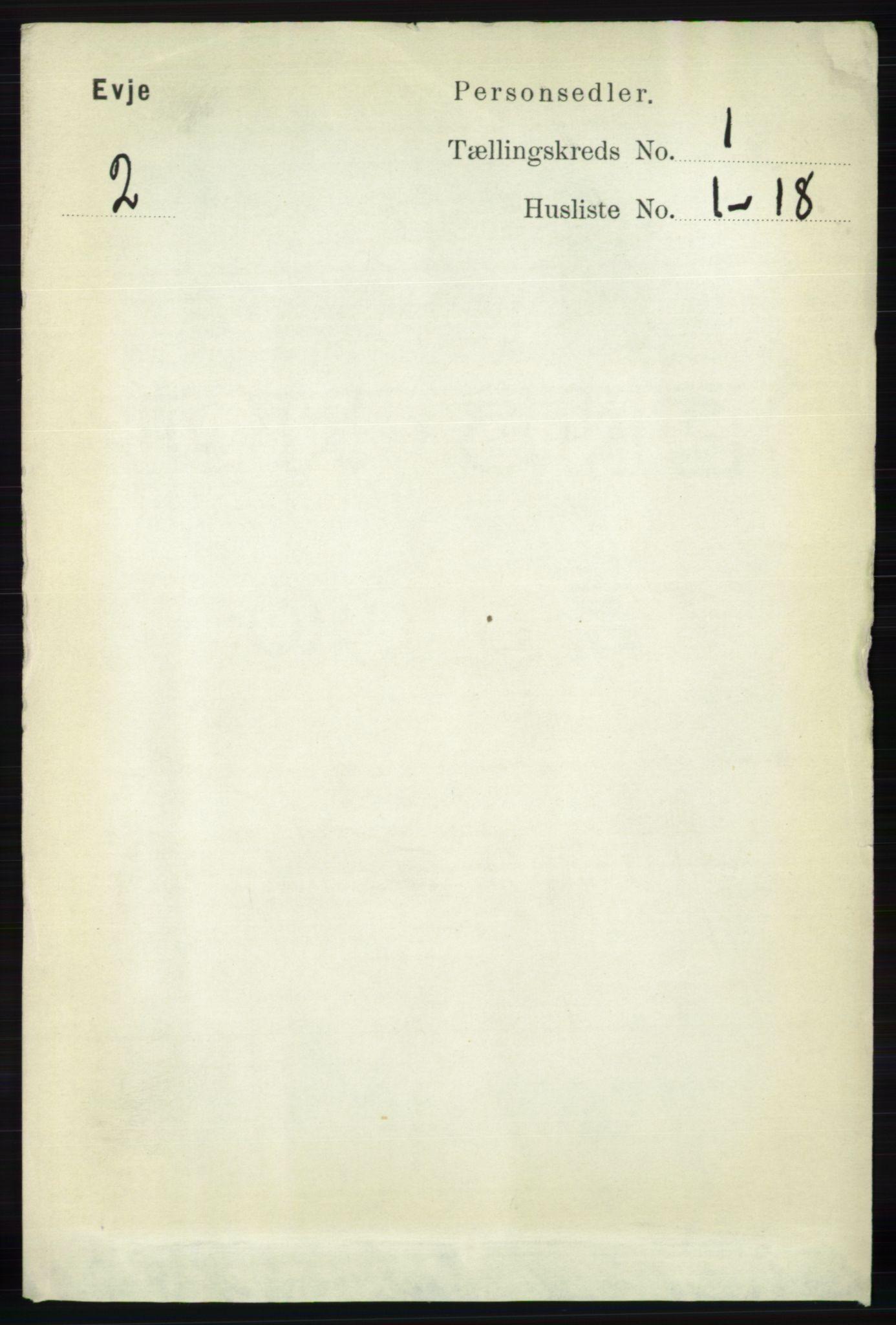 RA, Folketelling 1891 for 0937 Evje herred, 1891, s. 56