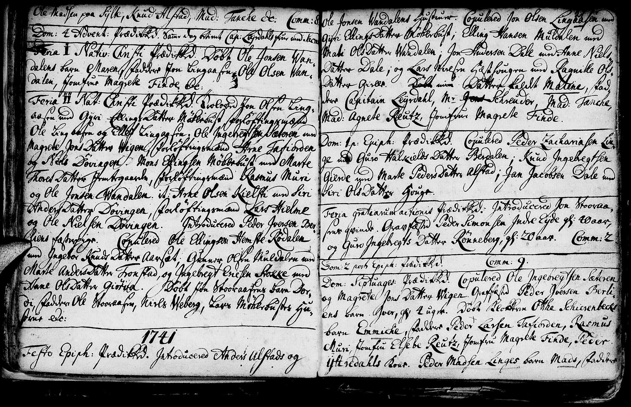 SAT, Ministerialprotokoller, klokkerbøker og fødselsregistre - Møre og Romsdal, 519/L0240: Ministerialbok nr. 519A01 /1, 1736-1760, s. 21