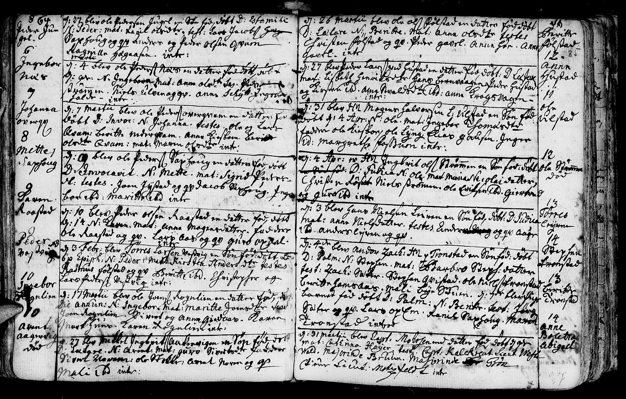 SAT, Ministerialprotokoller, klokkerbøker og fødselsregistre - Nord-Trøndelag, 730/L0273: Ministerialbok nr. 730A02, 1762-1802, s. 85