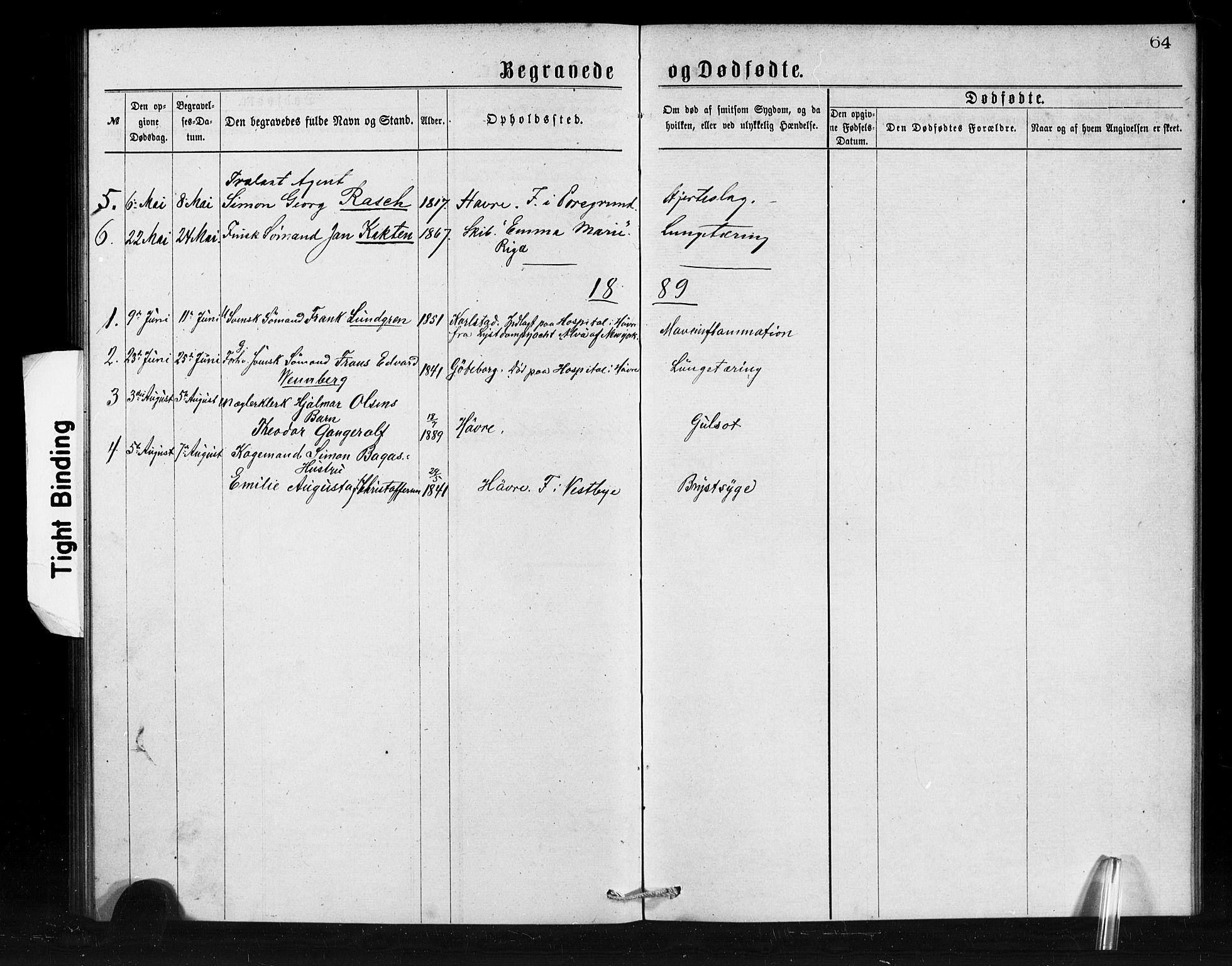 SAB, Den Norske Sjømannsmisjon i utlandet*, Ministerialbok nr. A 1, 1873-1889, s. 64