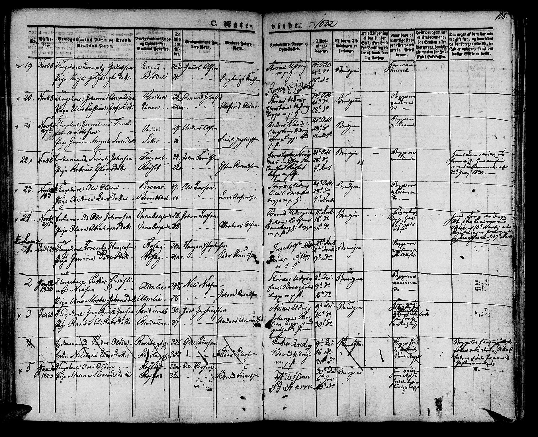 SAT, Ministerialprotokoller, klokkerbøker og fødselsregistre - Nord-Trøndelag, 741/L0390: Ministerialbok nr. 741A04, 1822-1836, s. 158