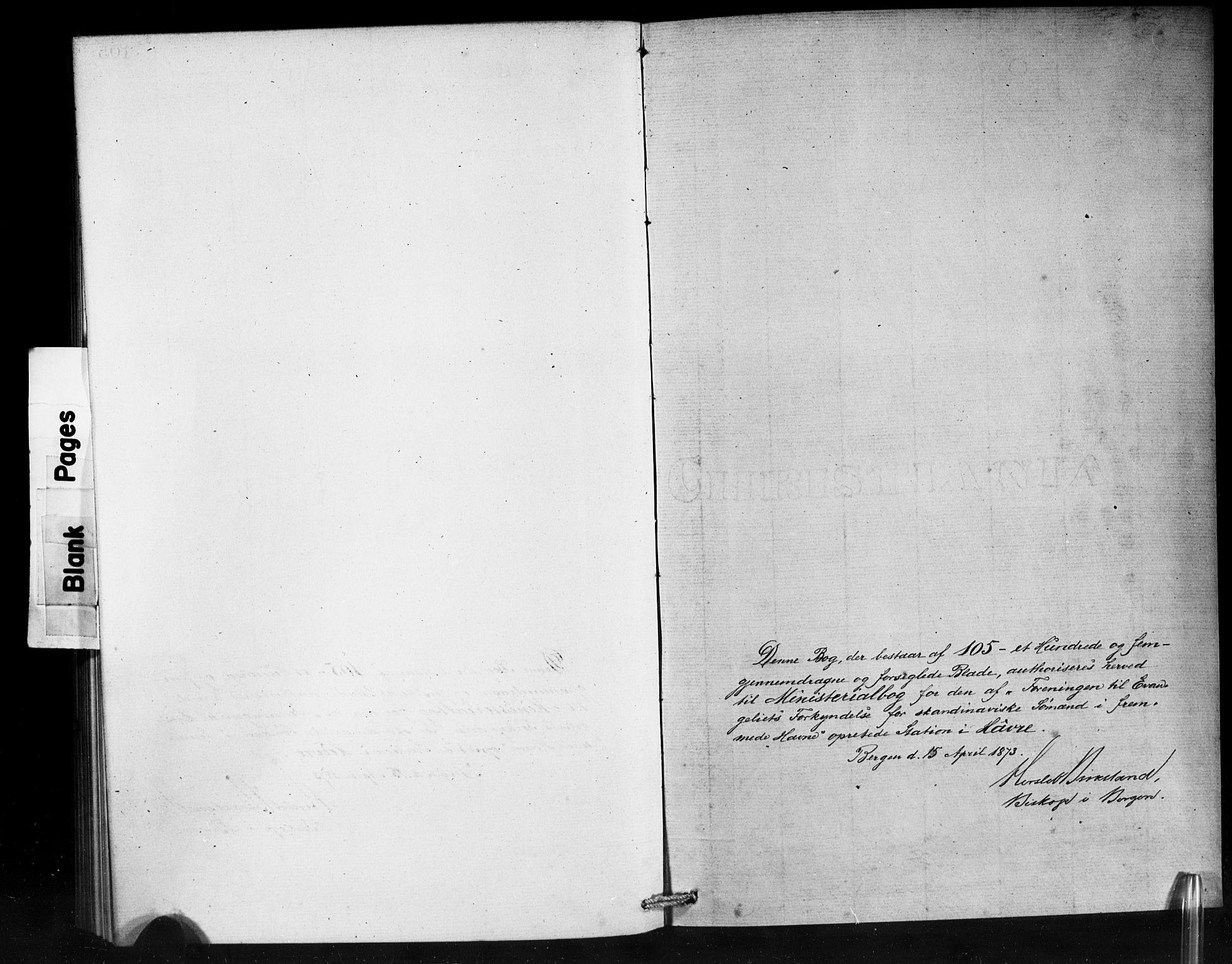 SAB, Den Norske Sjømannsmisjon i utlandet*, Ministerialbok nr. A 1, 1873-1889