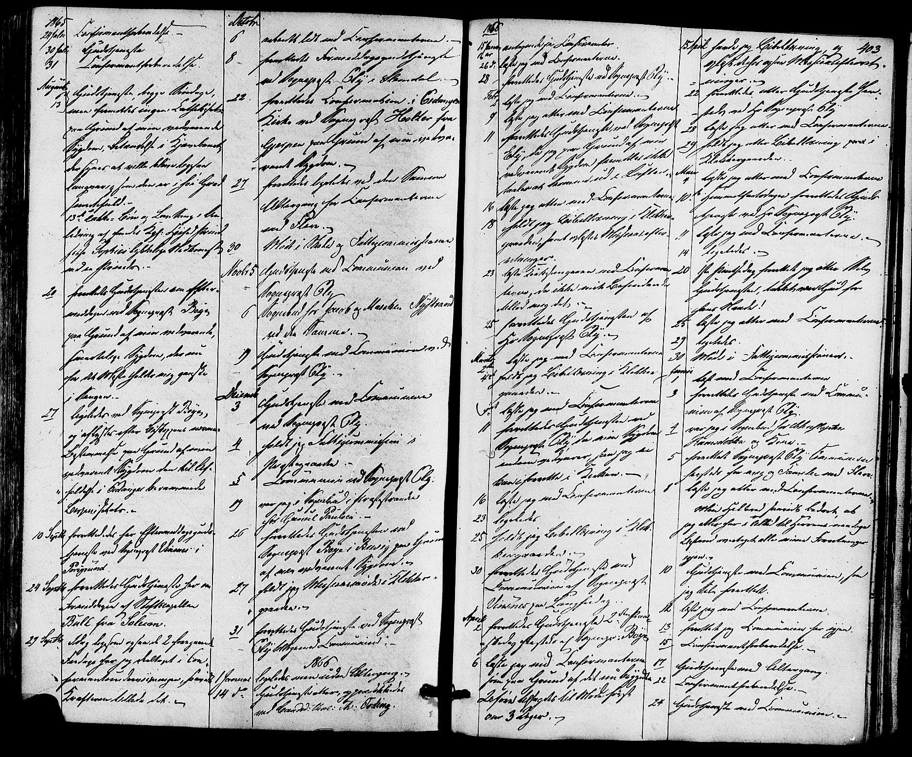 SAKO, Eidanger kirkebøker, F/Fa/L0010: Ministerialbok nr. 10, 1859-1874, s. 403