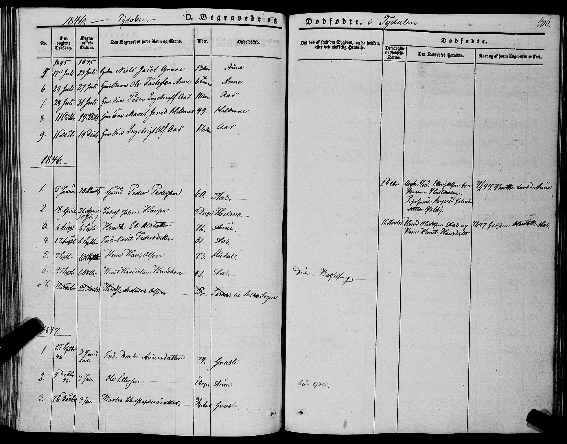 SAT, Ministerialprotokoller, klokkerbøker og fødselsregistre - Sør-Trøndelag, 695/L1146: Ministerialbok nr. 695A06 /2, 1843-1859, s. 406