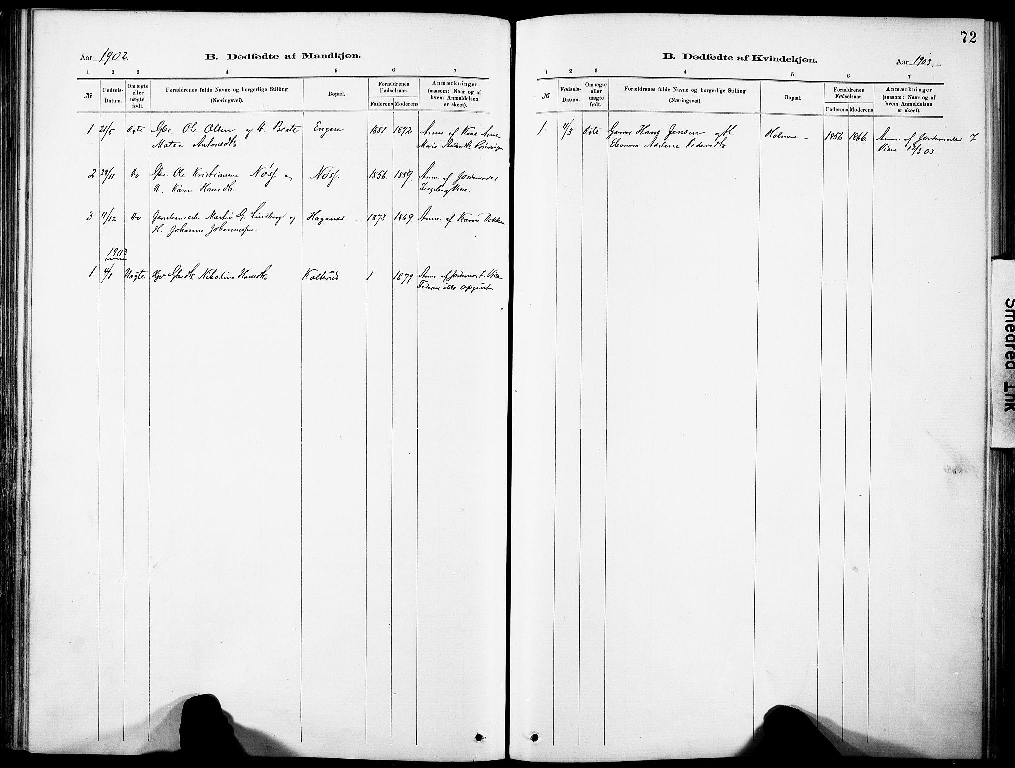 SAH, Nordre Land prestekontor, Ministerialbok nr. 5, 1882-1903, s. 72