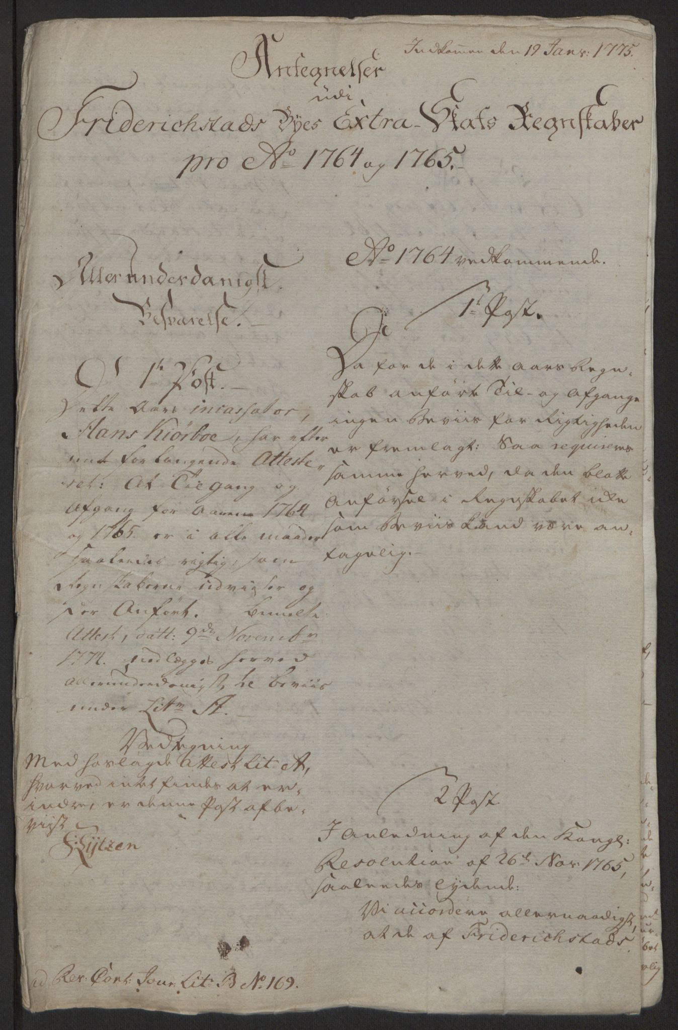RA, Rentekammeret inntil 1814, Reviderte regnskaper, Byregnskaper, R/Rb/L0029: [B3] Kontribusjonsregnskap, 1762-1772, s. 159