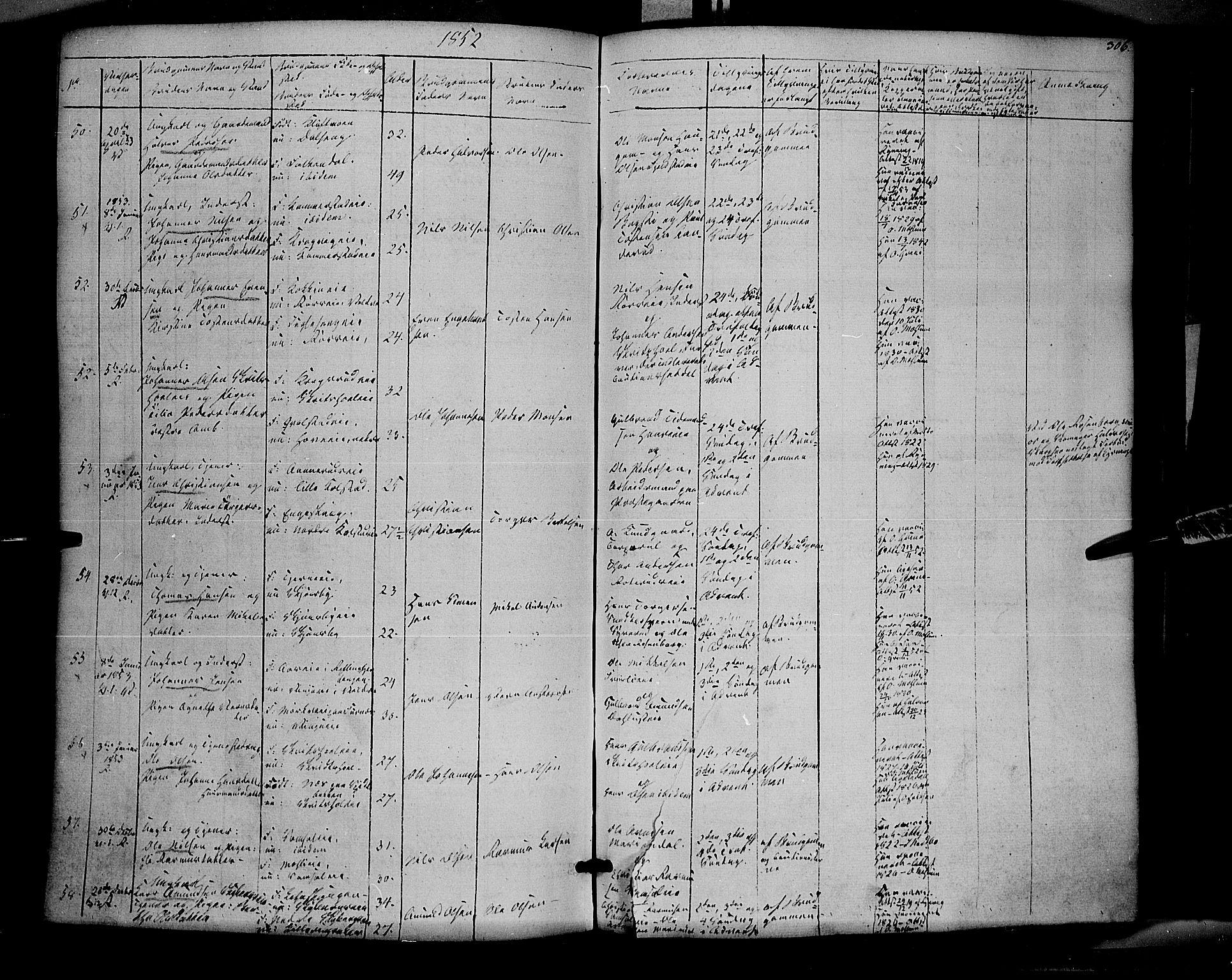 SAH, Ringsaker prestekontor, K/Ka/L0009: Ministerialbok nr. 9, 1850-1860, s. 306