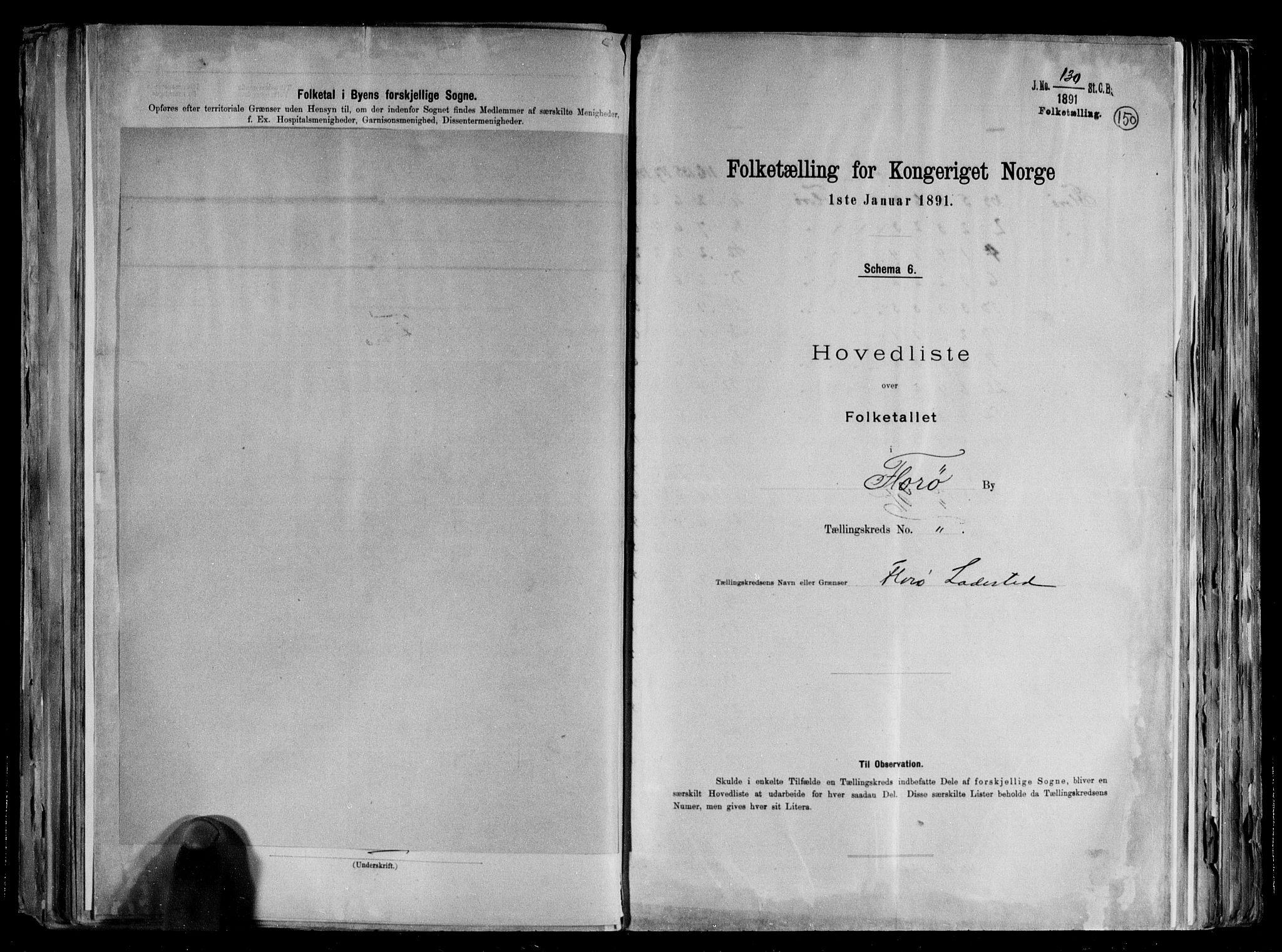 RA, Folketelling 1891 for 1401 Florø ladested, 1891, s. 5