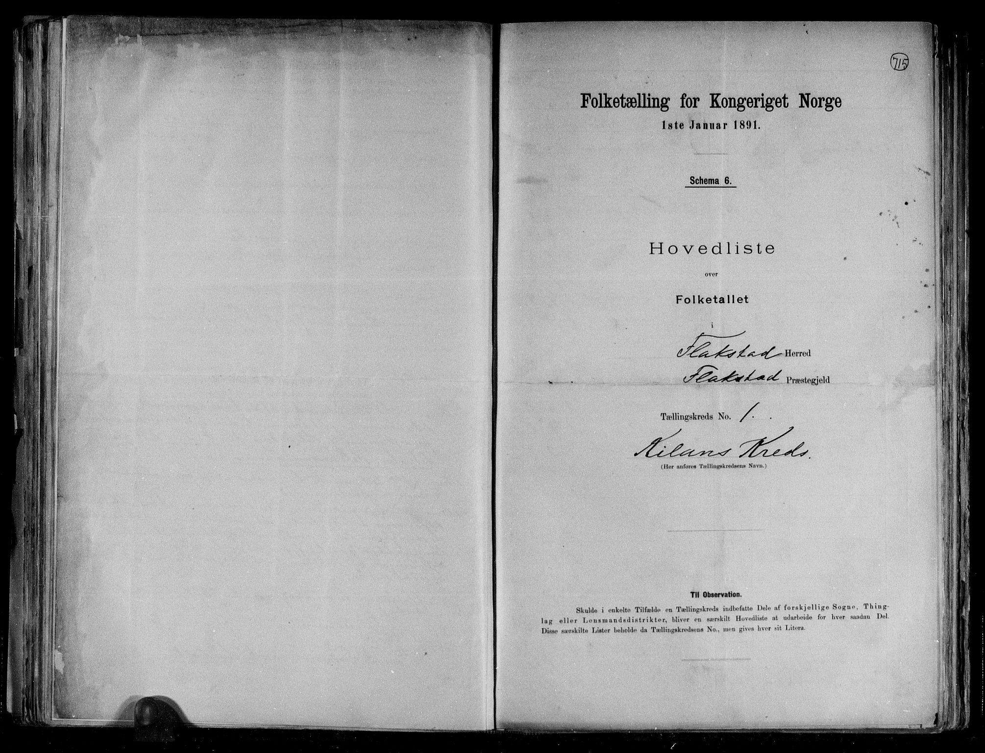 RA, Folketelling 1891 for 1859 Flakstad herred, 1891, s. 4