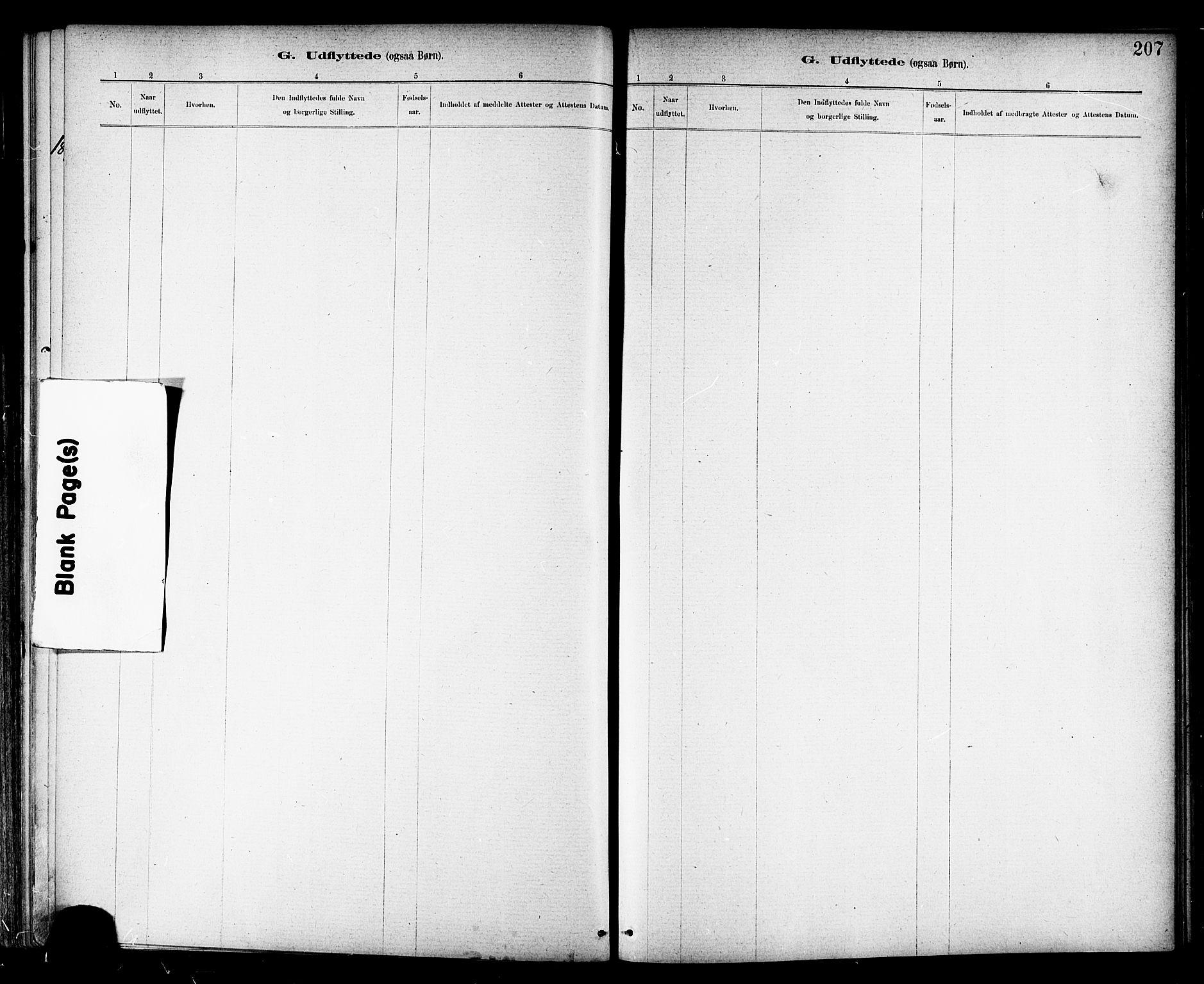 SAT, Ministerialprotokoller, klokkerbøker og fødselsregistre - Nord-Trøndelag, 703/L0030: Ministerialbok nr. 703A03, 1880-1892, s. 207
