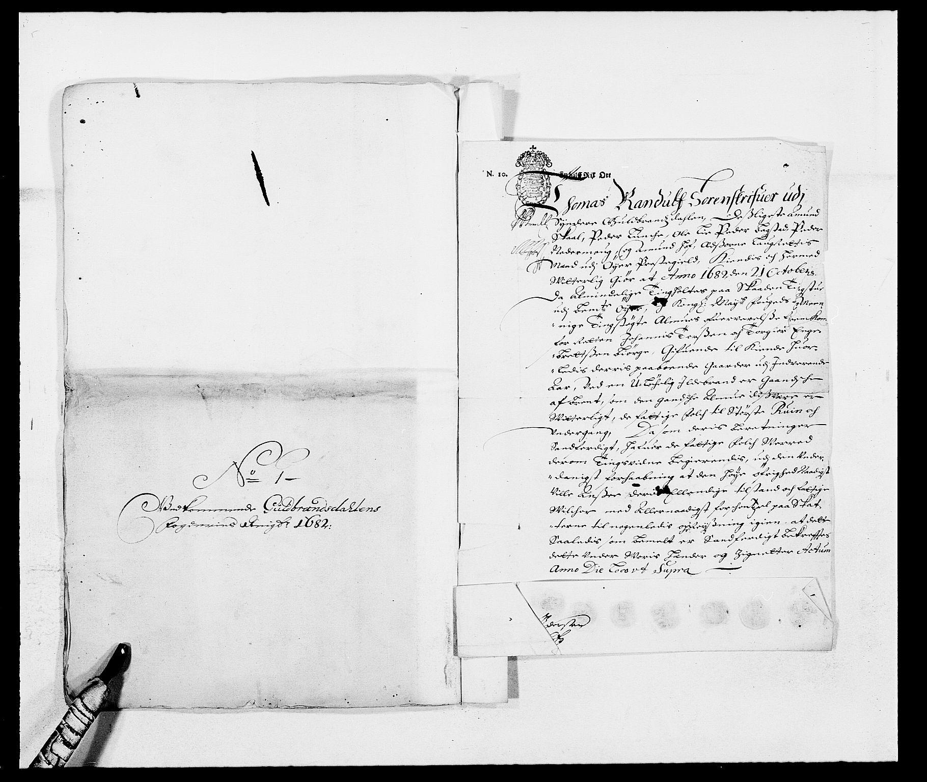 RA, Rentekammeret inntil 1814, Reviderte regnskaper, Fogderegnskap, R17/L1157: Fogderegnskap Gudbrandsdal, 1682-1689, s. 365