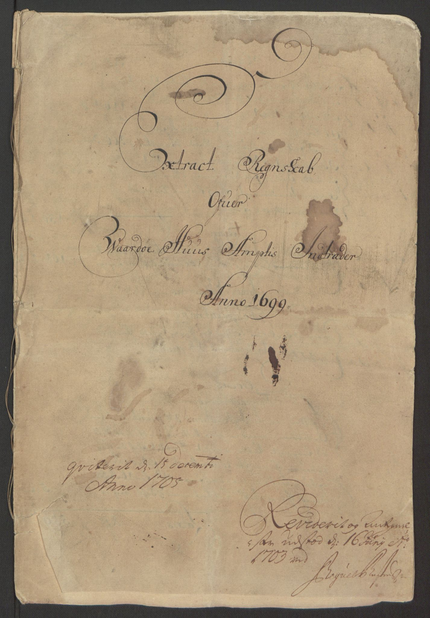 RA, Rentekammeret inntil 1814, Reviderte regnskaper, Fogderegnskap, R69/L4851: Fogderegnskap Finnmark/Vardøhus, 1691-1700, s. 377