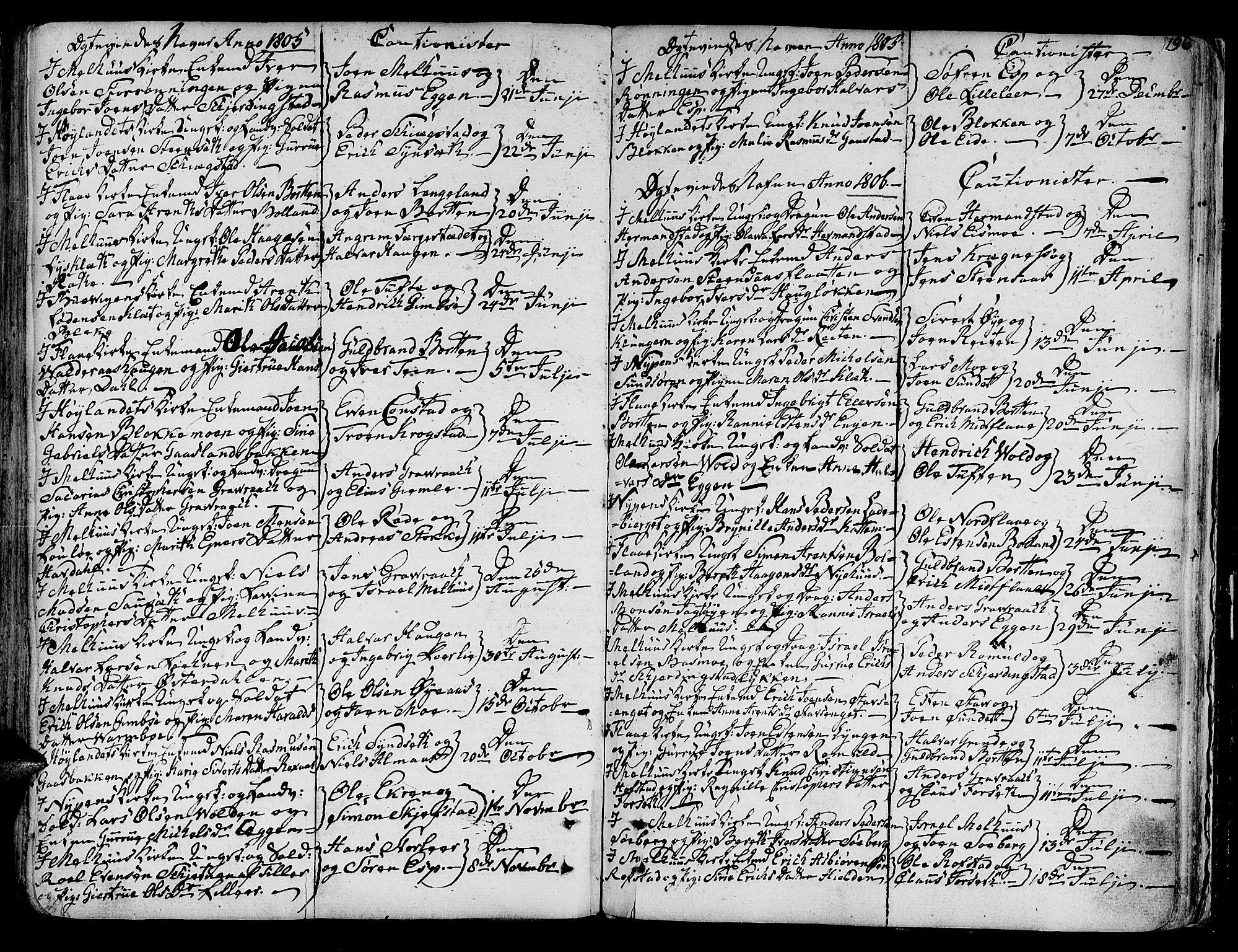 SAT, Ministerialprotokoller, klokkerbøker og fødselsregistre - Sør-Trøndelag, 691/L1061: Ministerialbok nr. 691A02 /1, 1768-1815, s. 196