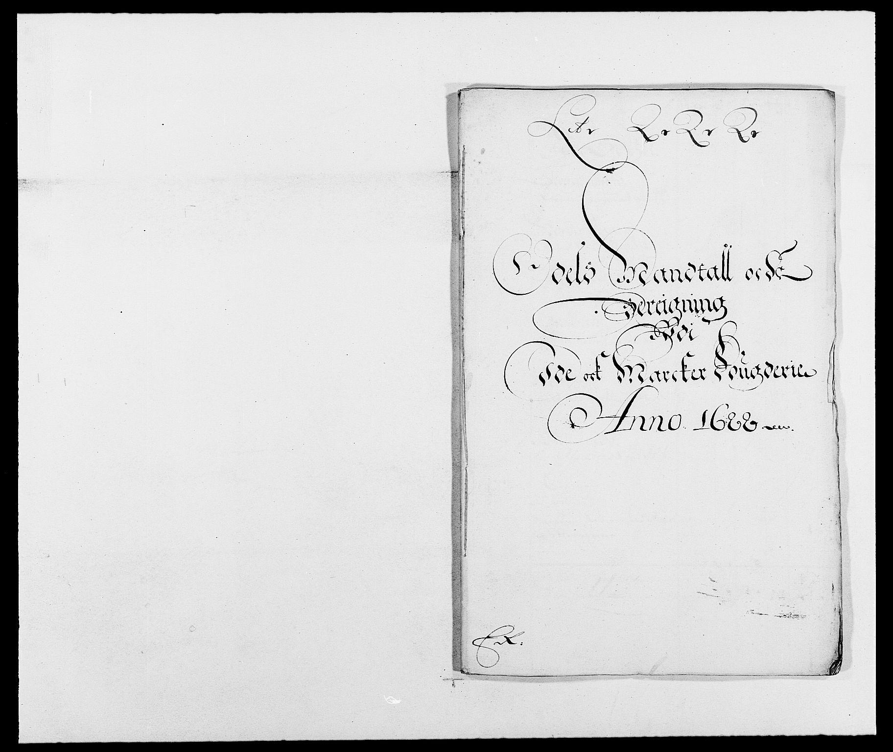 RA, Rentekammeret inntil 1814, Reviderte regnskaper, Fogderegnskap, R01/L0007: Fogderegnskap Idd og Marker, 1687-1688, s. 280