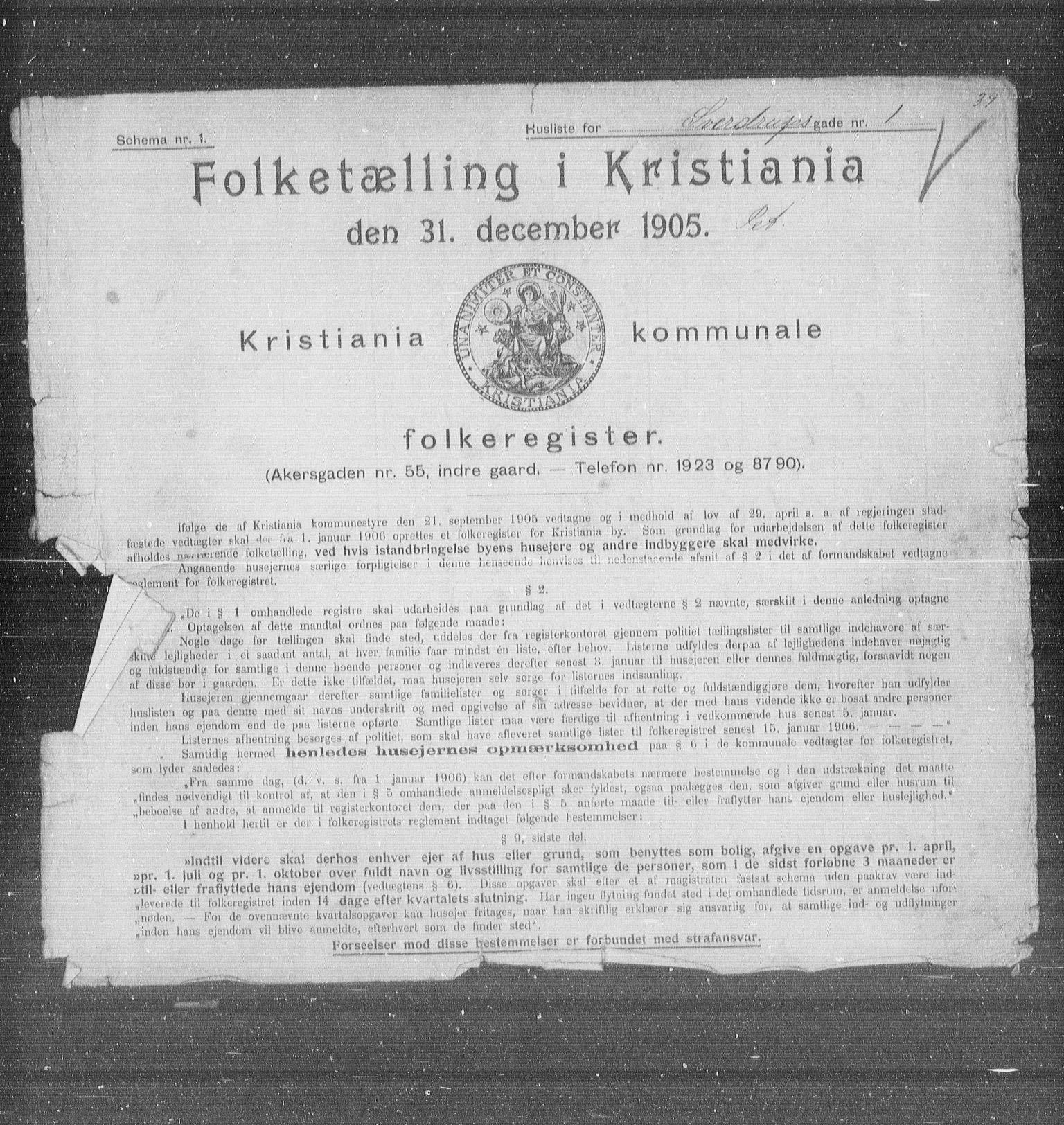OBA, Kommunal folketelling 1905 for Kristiania kjøpstad, 1905, s. 54826