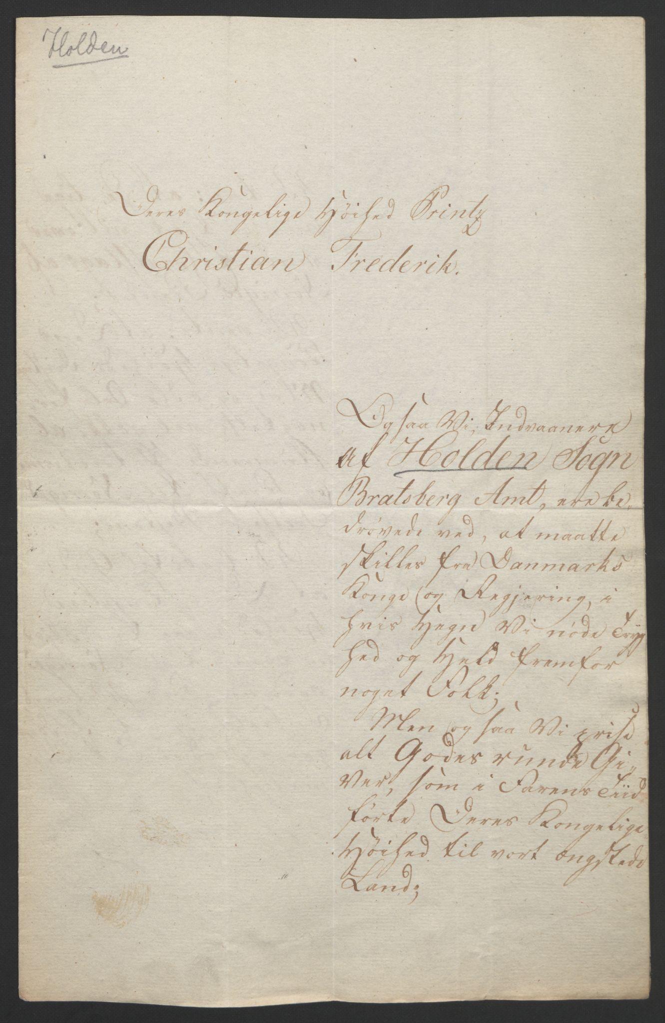 RA, Statsrådssekretariatet, D/Db/L0008: Fullmakter for Eidsvollsrepresentantene i 1814. , 1814, s. 52