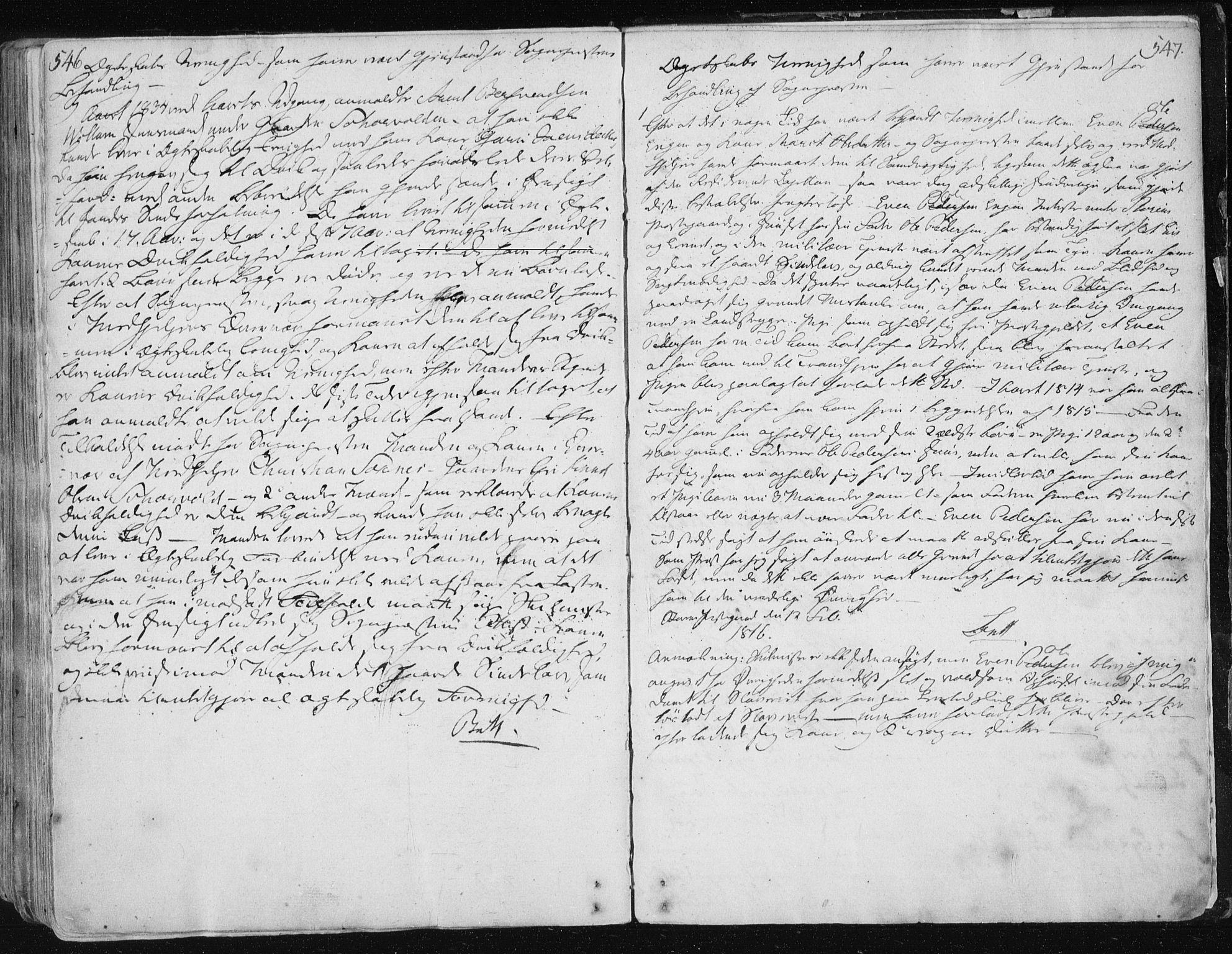 SAT, Ministerialprotokoller, klokkerbøker og fødselsregistre - Sør-Trøndelag, 687/L0992: Ministerialbok nr. 687A03 /1, 1788-1815, s. 546-547