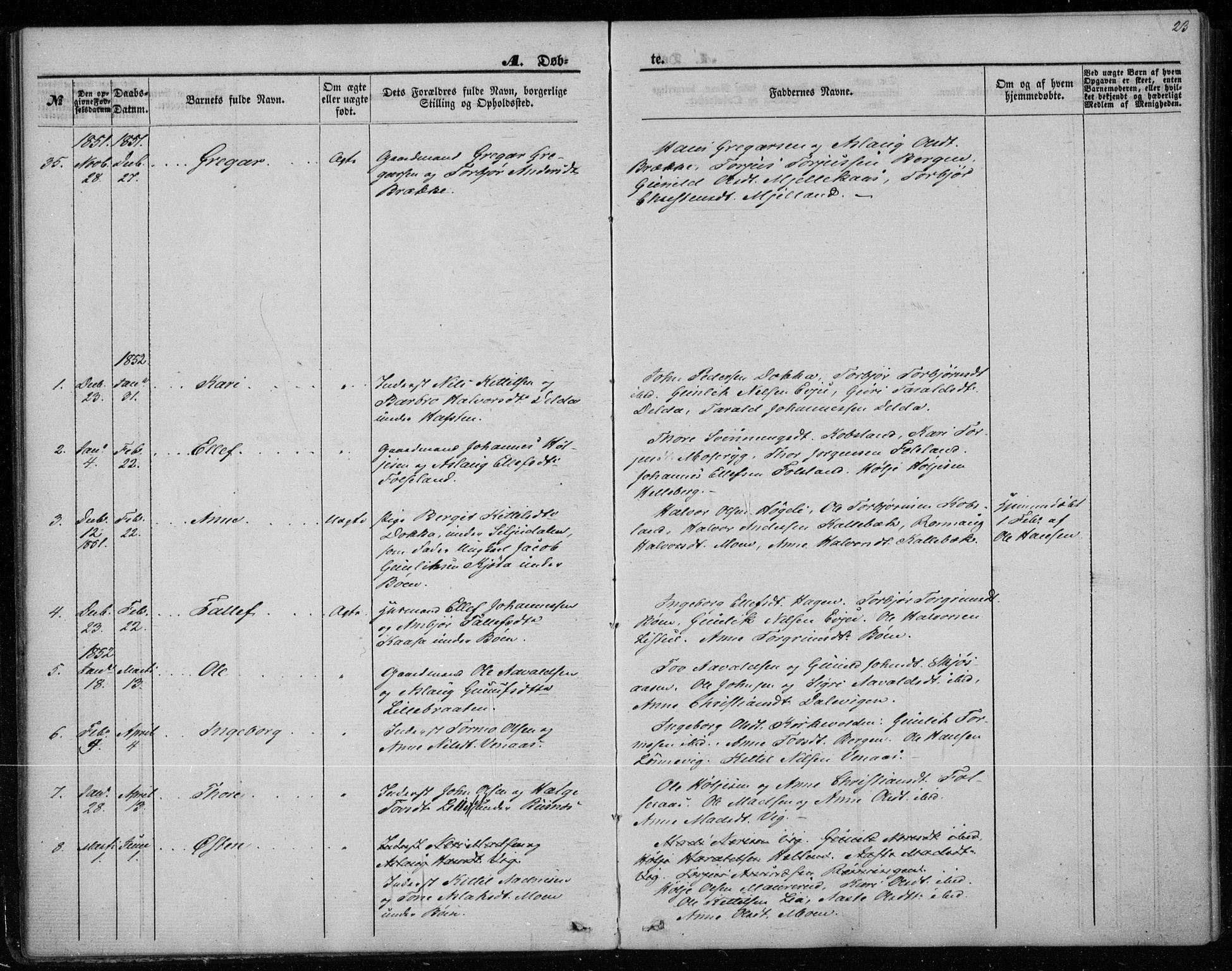 SAKO, Gransherad kirkebøker, F/Fa/L0002: Ministerialbok nr. I 2, 1844-1859, s. 23