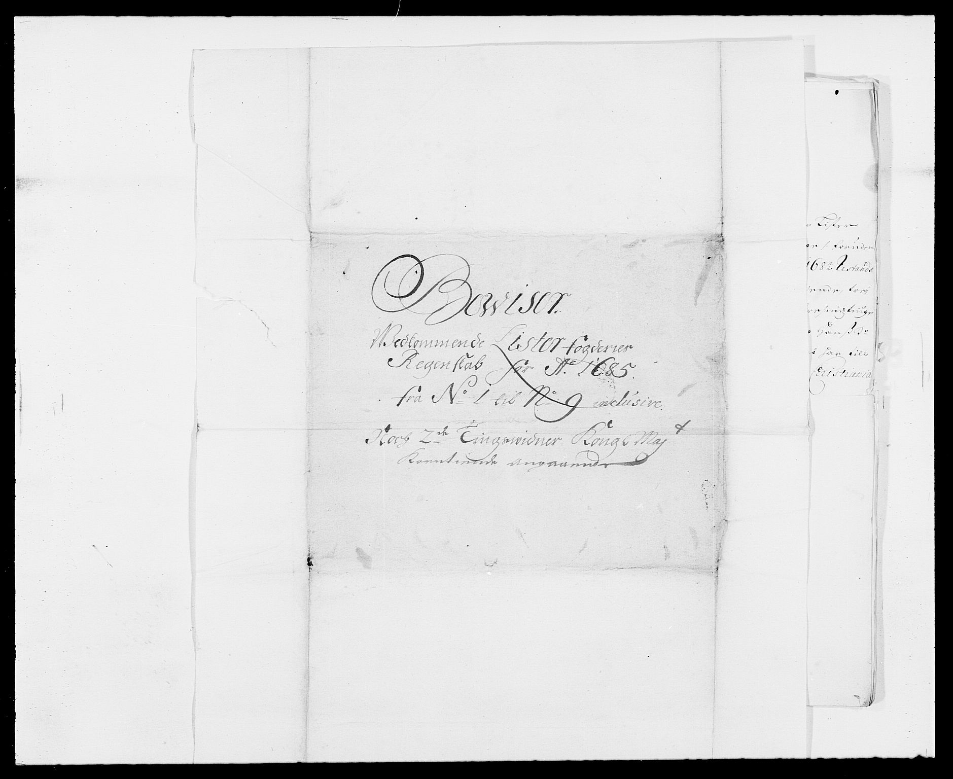 RA, Rentekammeret inntil 1814, Reviderte regnskaper, Fogderegnskap, R41/L2533: Fogderegnskap Lista, 1684-1685, s. 216