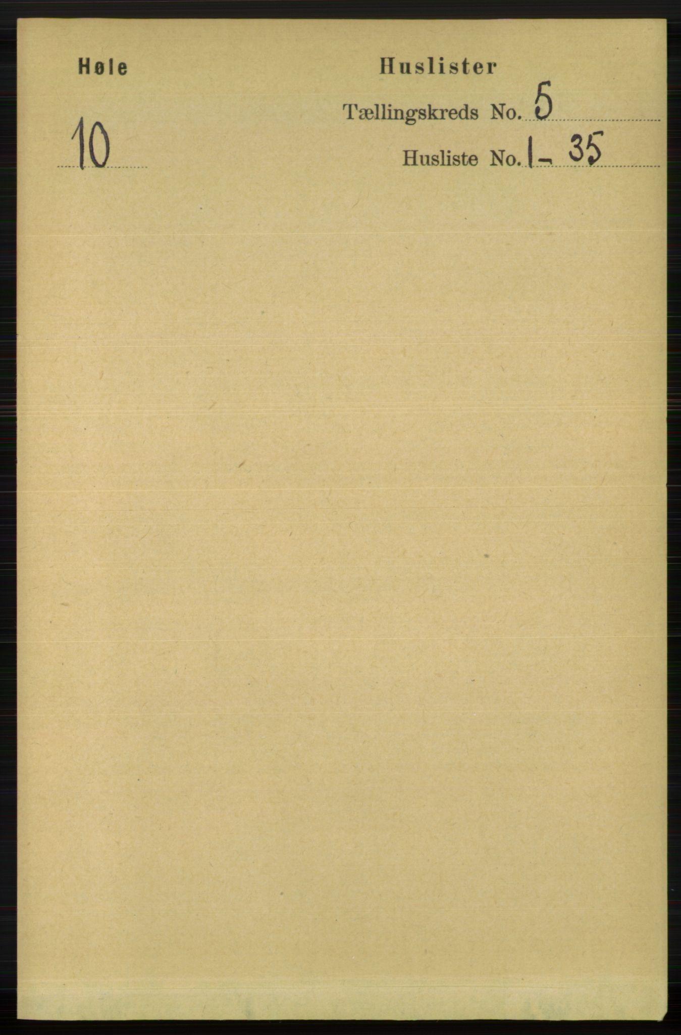 RA, Folketelling 1891 for 1128 Høle herred, 1891, s. 1014