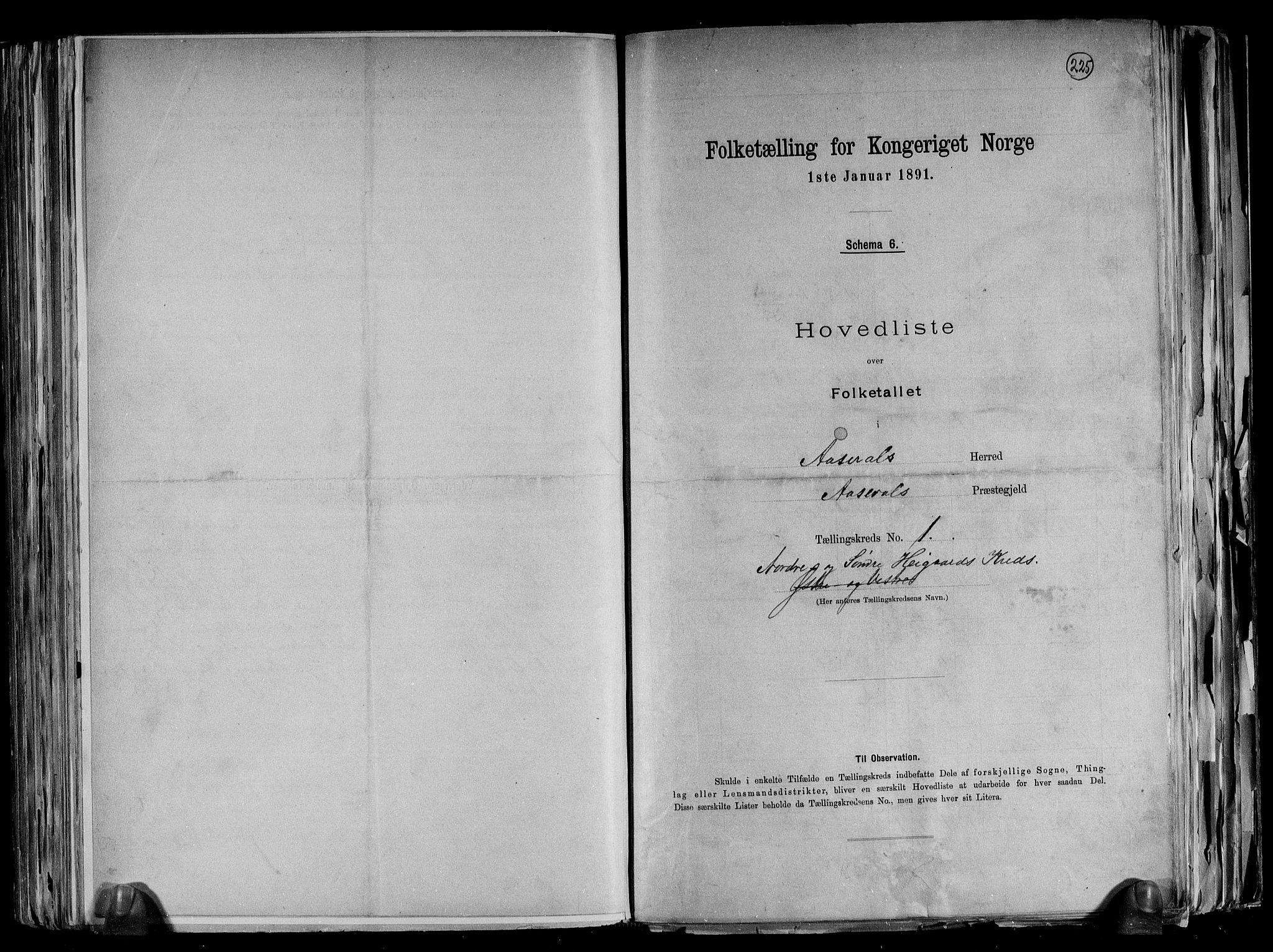 RA, Folketelling 1891 for 1026 Åseral herred, 1891, s. 4