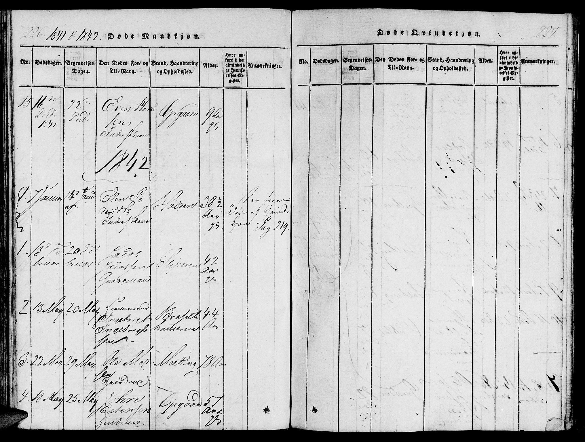 SAT, Ministerialprotokoller, klokkerbøker og fødselsregistre - Nord-Trøndelag, 733/L0322: Ministerialbok nr. 733A01, 1817-1842, s. 226-227