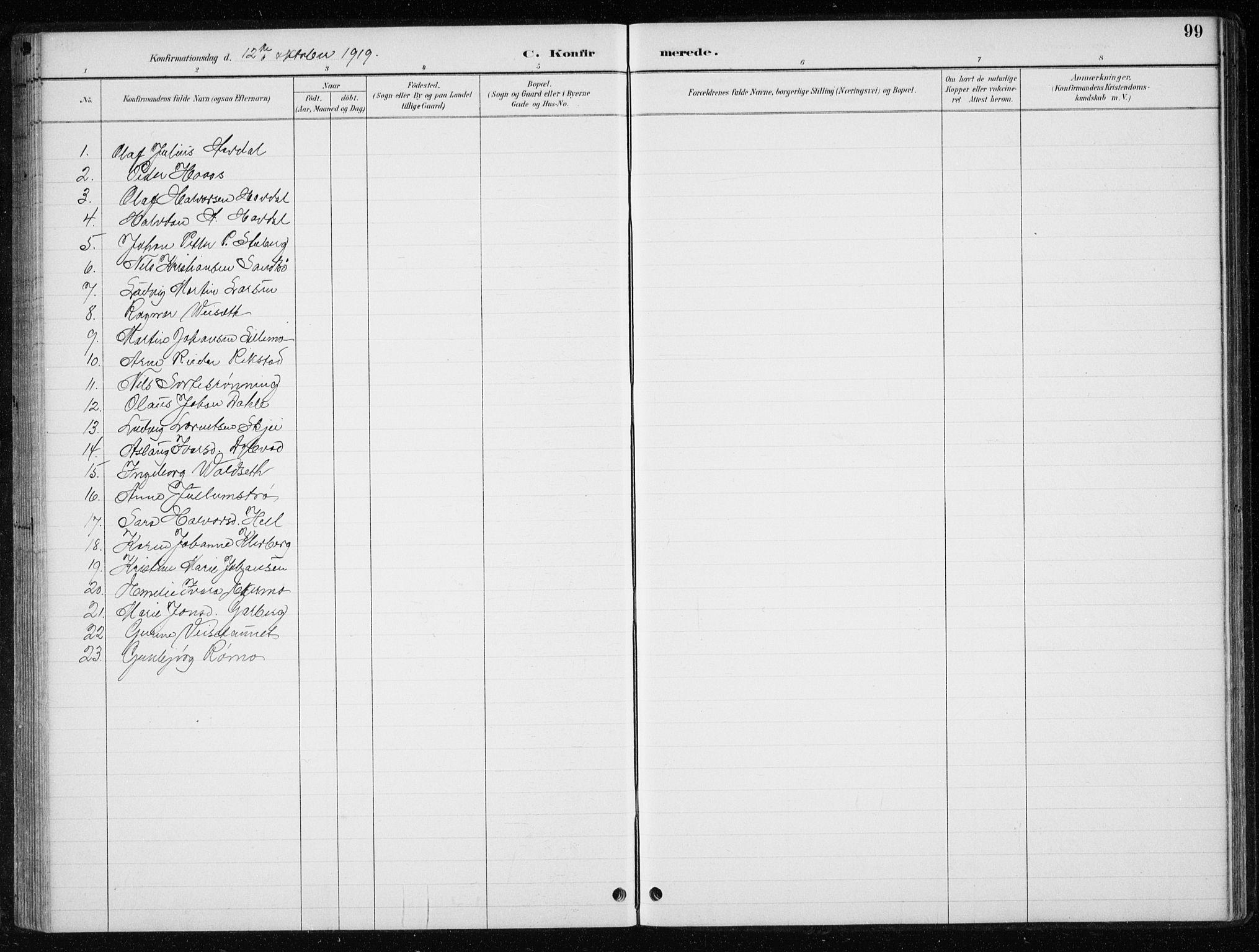 SAT, Ministerialprotokoller, klokkerbøker og fødselsregistre - Nord-Trøndelag, 710/L0096: Klokkerbok nr. 710C01, 1892-1925, s. 99