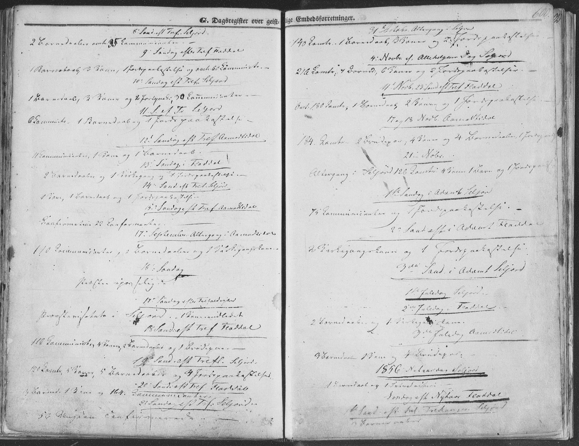 SAKO, Seljord kirkebøker, F/Fa/L012b: Ministerialbok nr. I 12B, 1850-1865, s. 600