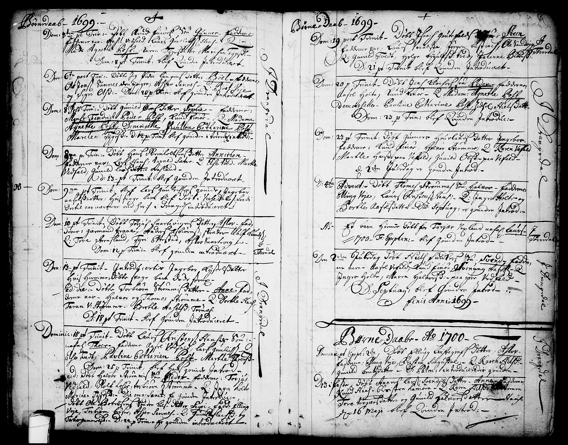 SAKO, Drangedal kirkebøker, F/Fa/L0001: Ministerialbok nr. 1, 1697-1767, s. 6