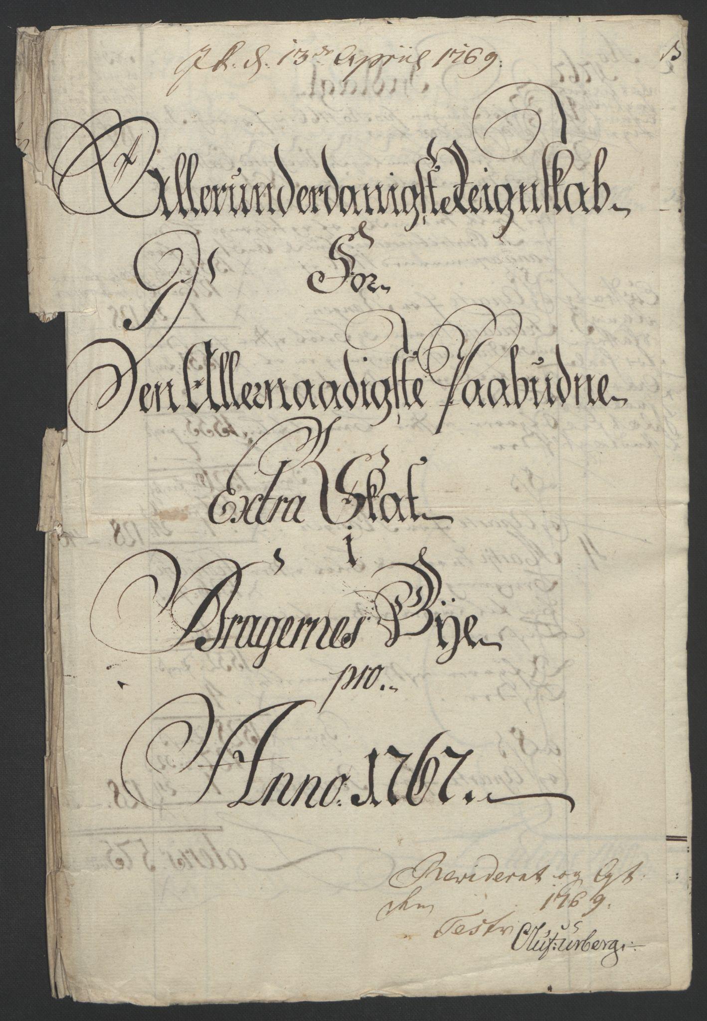 RA, Rentekammeret inntil 1814, Reviderte regnskaper, Byregnskaper, R/Rf/L0119: [F2] Kontribusjonsregnskap, 1762-1767, s. 379