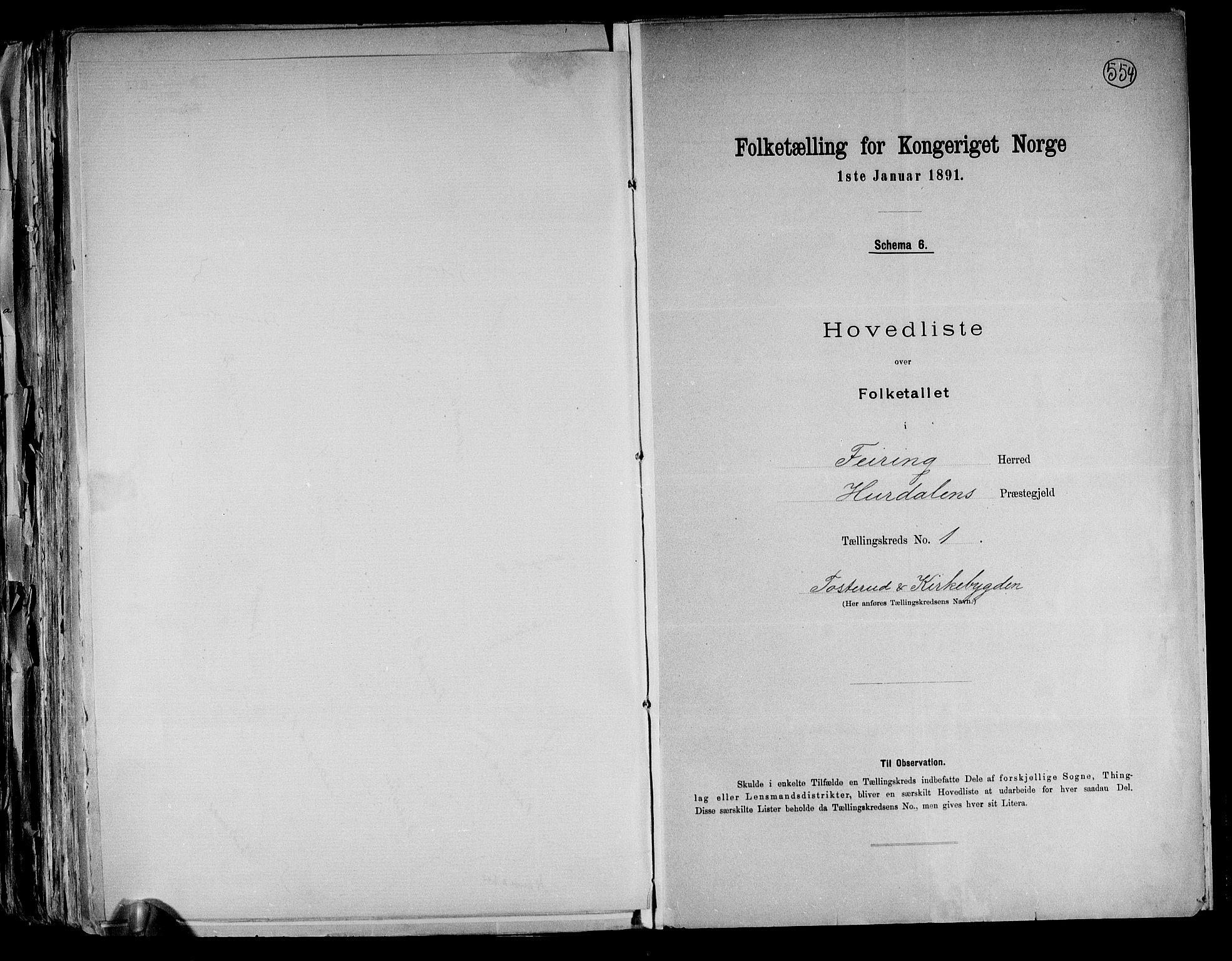 RA, Folketelling 1891 for 0240 Feiring herred, 1891, s. 5