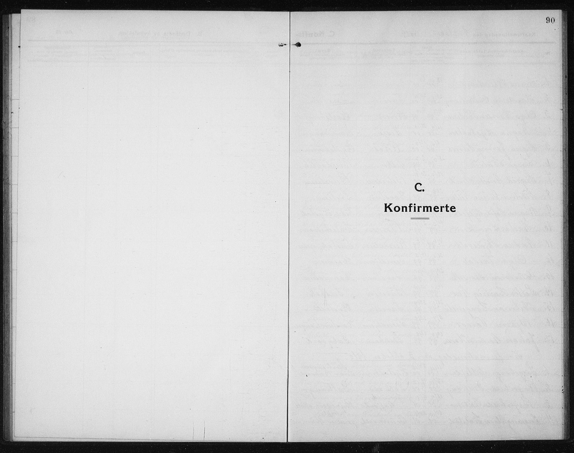 SAT, Ministerialprotokoller, klokkerbøker og fødselsregistre - Sør-Trøndelag, 611/L0356: Klokkerbok nr. 611C04, 1914-1938, s. 90