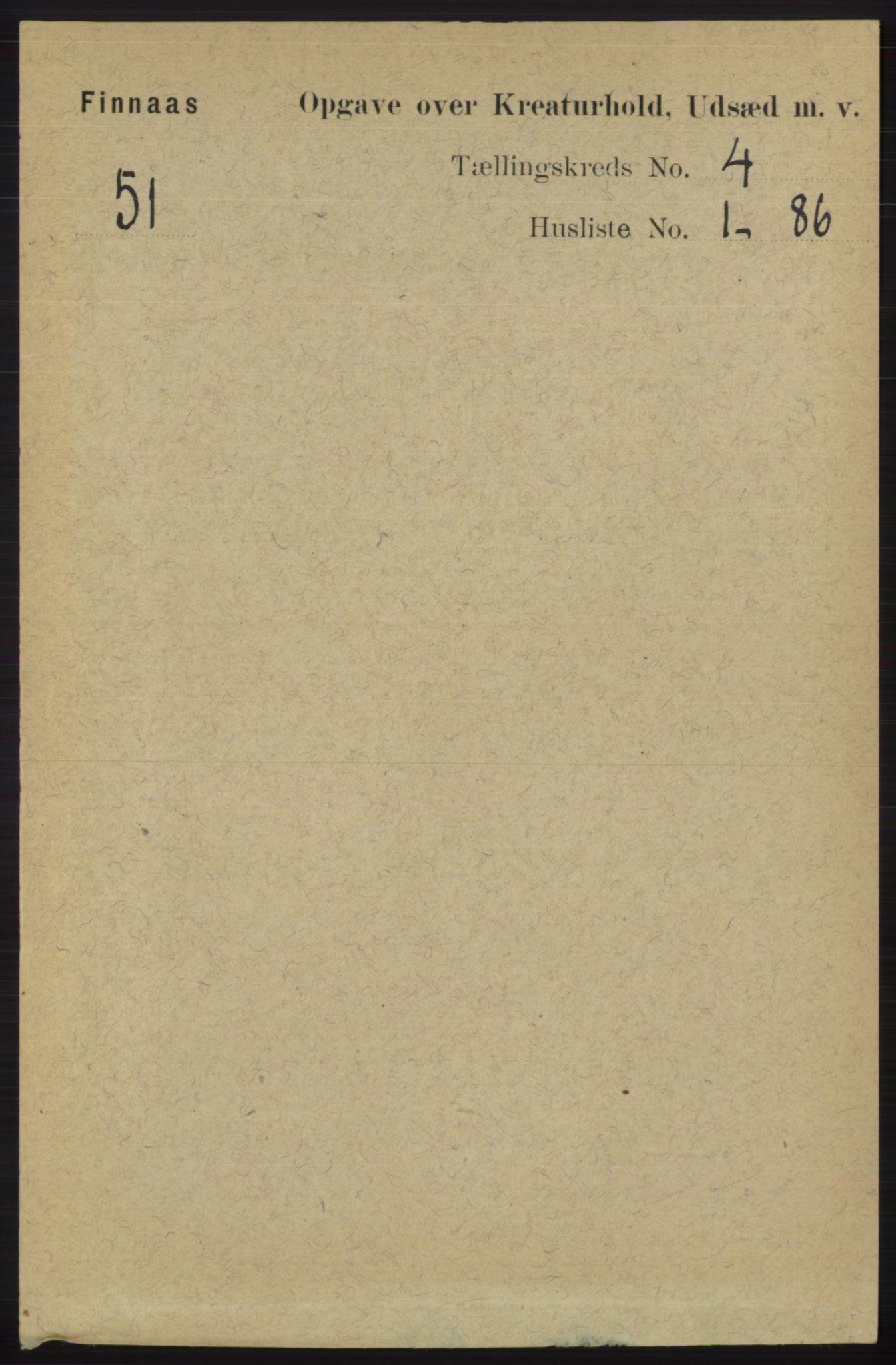 RA, Folketelling 1891 for 1218 Finnås herred, 1891, s. 6419
