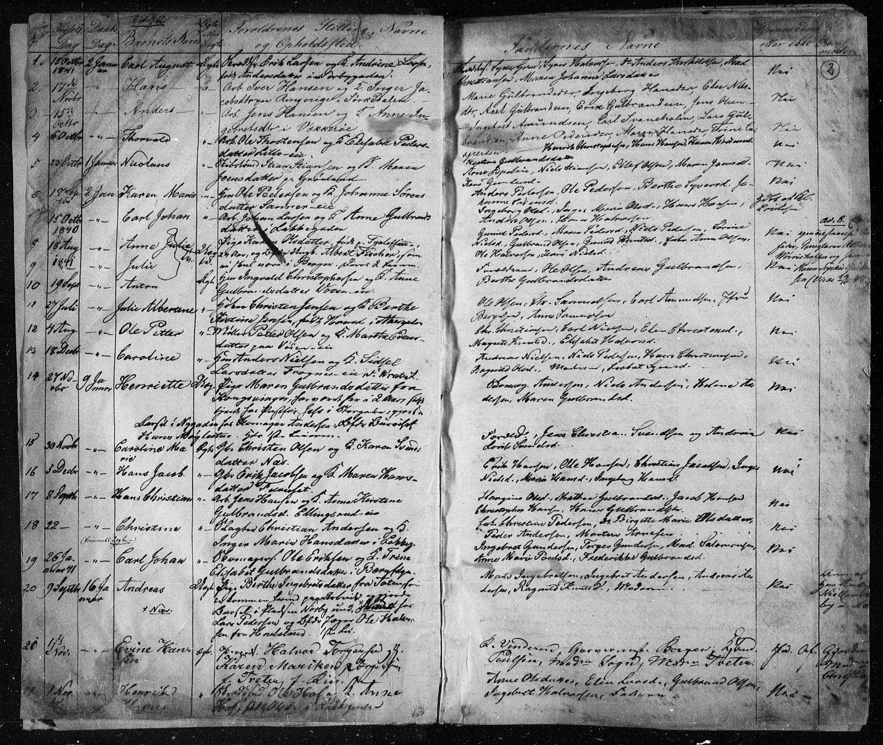 SAO, Aker prestekontor kirkebøker, F/L0019: Ministerialbok nr. 19, 1842-1852, s. 2