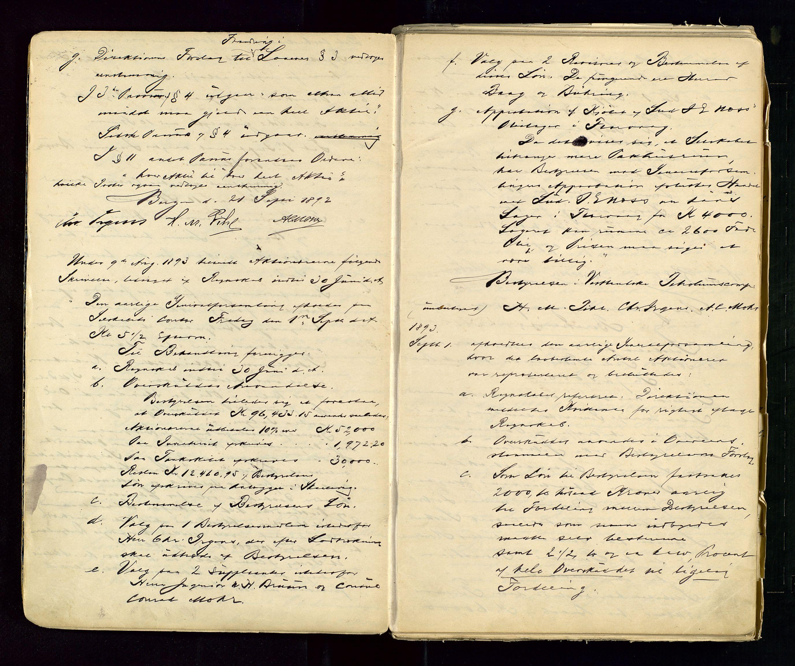 SAST, PA 1533 - A/S Vestlandske Petroleumscompani, A/Aa/L0001: Generalforsamlinger og styreprotokoller, 1890-1953, s. 12