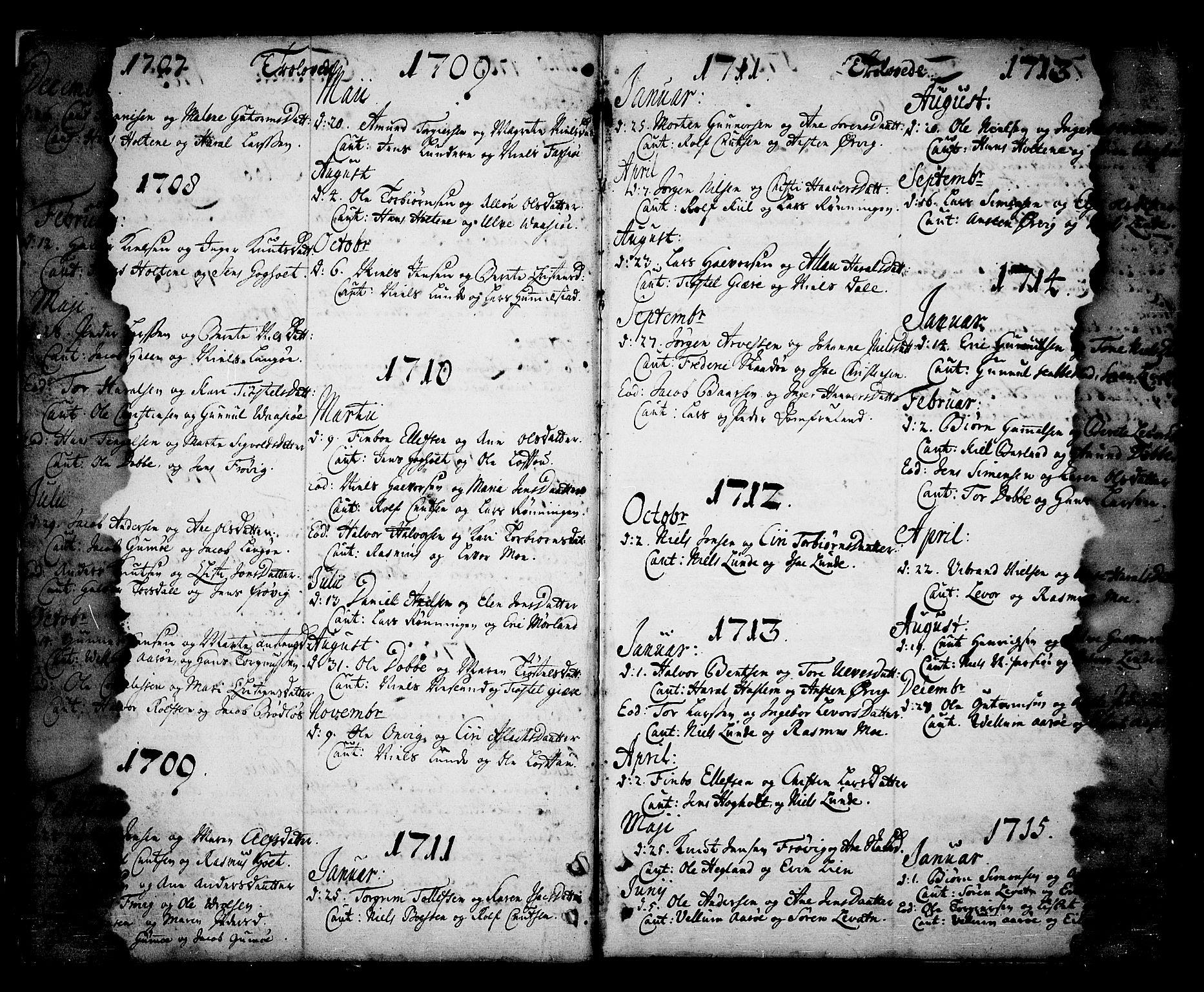 SAKO, Sannidal kirkebøker, F/Fa/L0001: Ministerialbok nr. 1, 1702-1766, s. 2-3