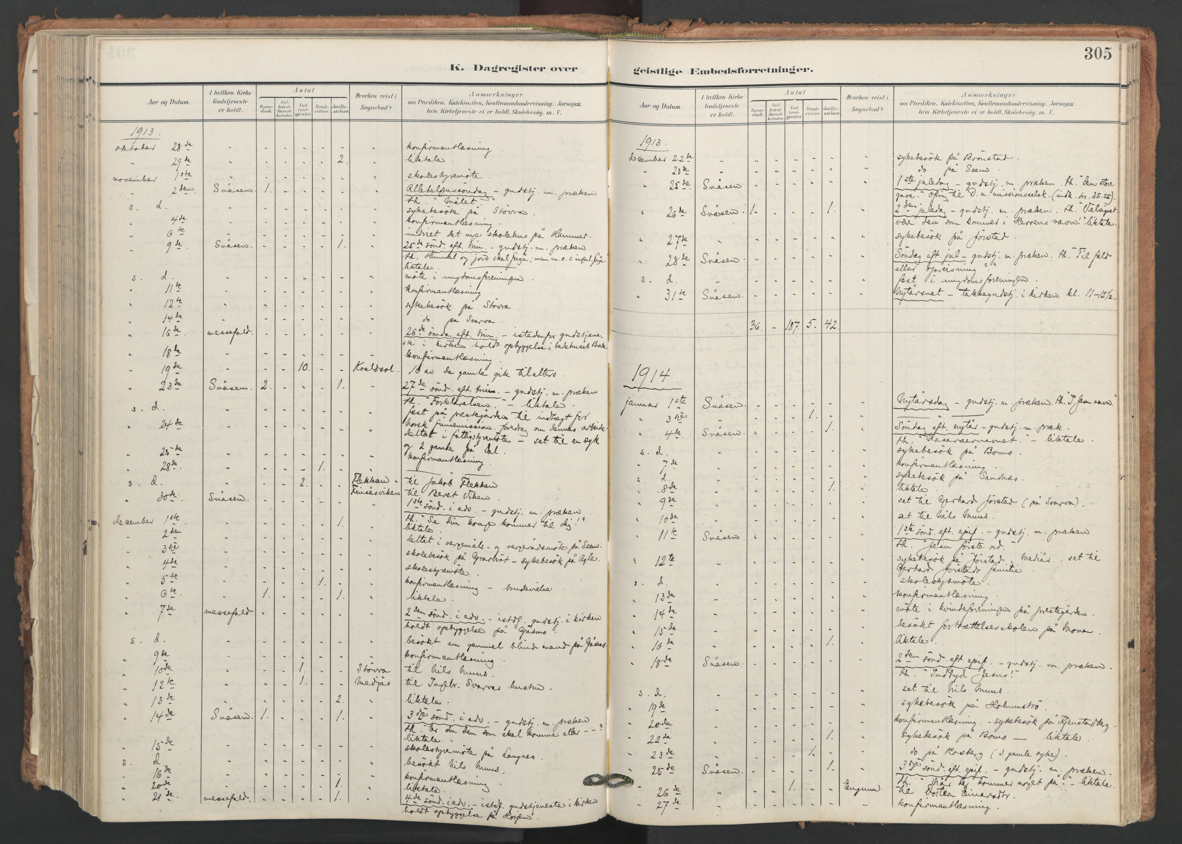 SAT, Ministerialprotokoller, klokkerbøker og fødselsregistre - Nord-Trøndelag, 749/L0477: Ministerialbok nr. 749A11, 1902-1927, s. 305
