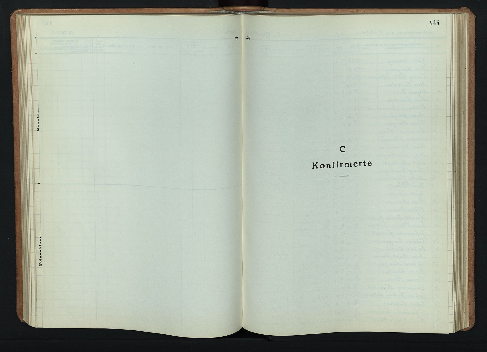 SAH, Østre Toten prestekontor, Klokkerbok nr. 11, 1934-1952, s. 144