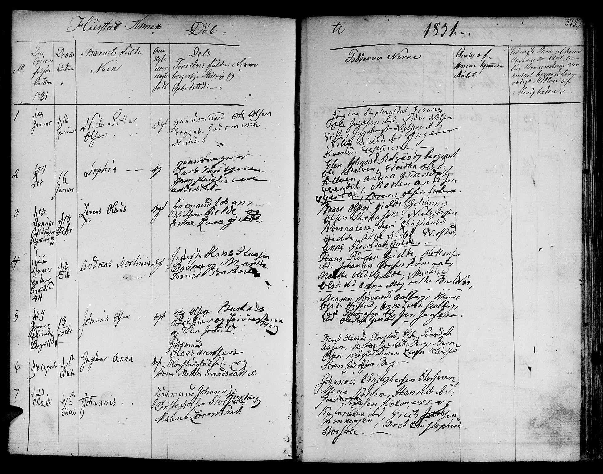 SAT, Ministerialprotokoller, klokkerbøker og fødselsregistre - Nord-Trøndelag, 730/L0277: Ministerialbok nr. 730A06 /3, 1830-1839, s. 375