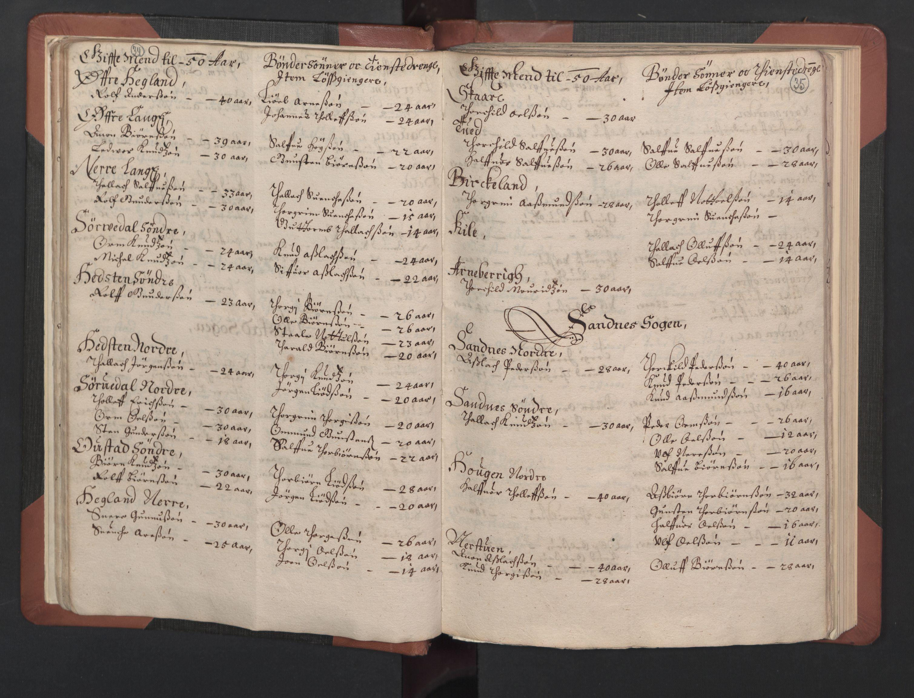 RA, Fogdenes og sorenskrivernes manntall 1664-1666, nr. 8: Råbyggelaget fogderi, 1664-1665, s. 34-35
