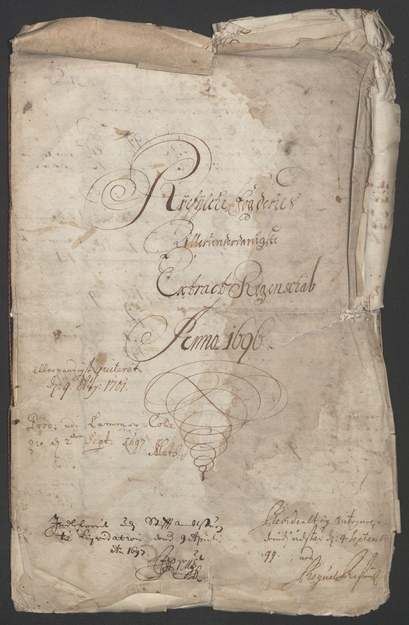 RA, Rentekammeret inntil 1814, Reviderte regnskaper, Fogderegnskap, R47/L2857: Fogderegnskap Ryfylke, 1694-1696, s. 238