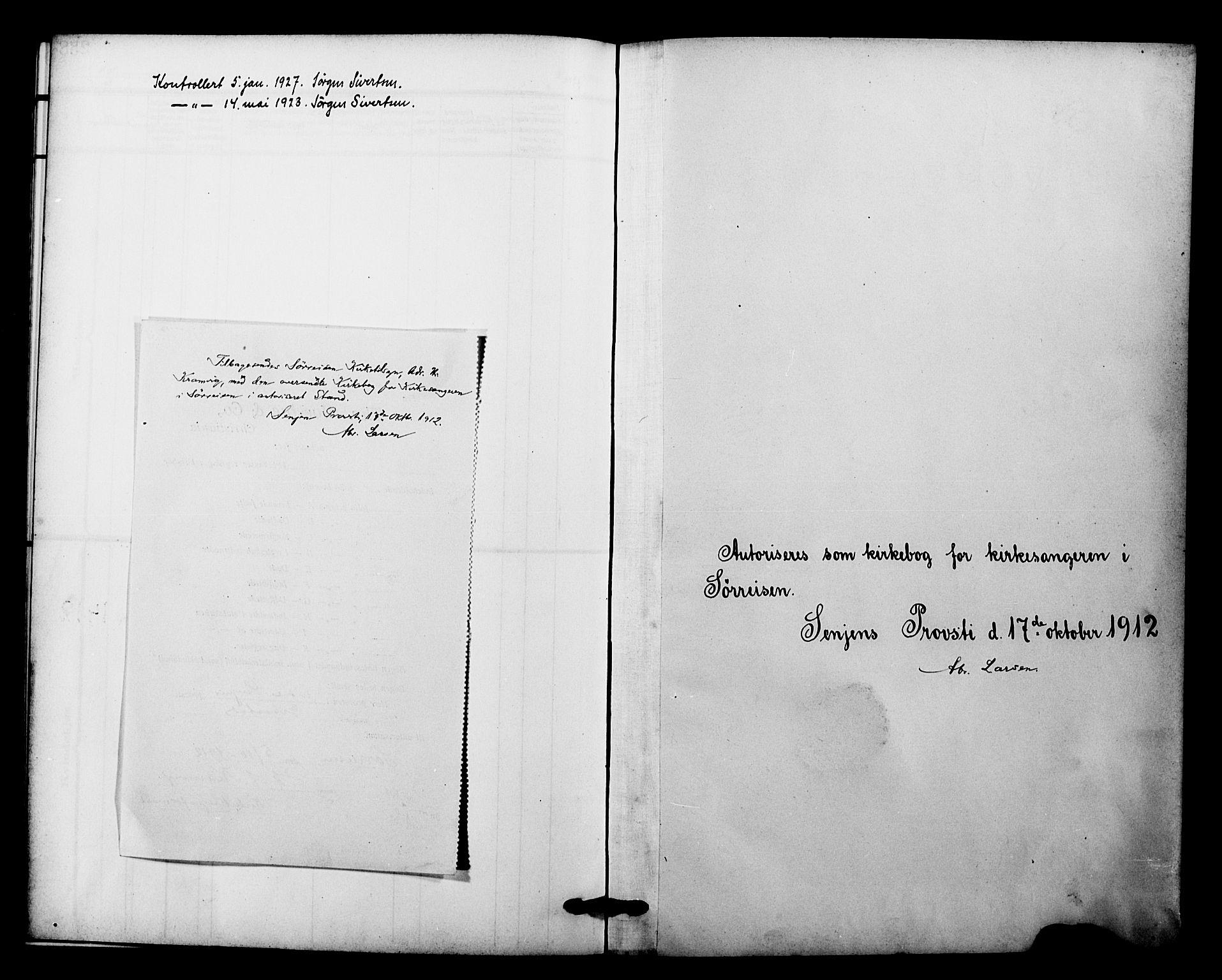 SATØ, Tranøy sokneprestkontor, I/Ia/Iab/L0023klokker: Klokkerbok nr. 23, 1913-1928