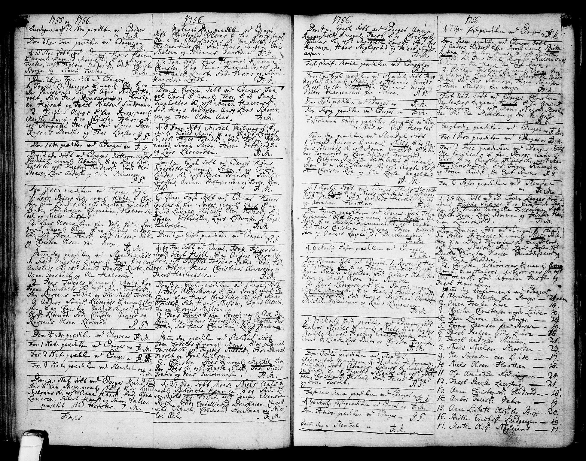 SAKO, Eidanger kirkebøker, F/Fa/L0004: Ministerialbok nr. 4, 1733-1759, s. 180-181