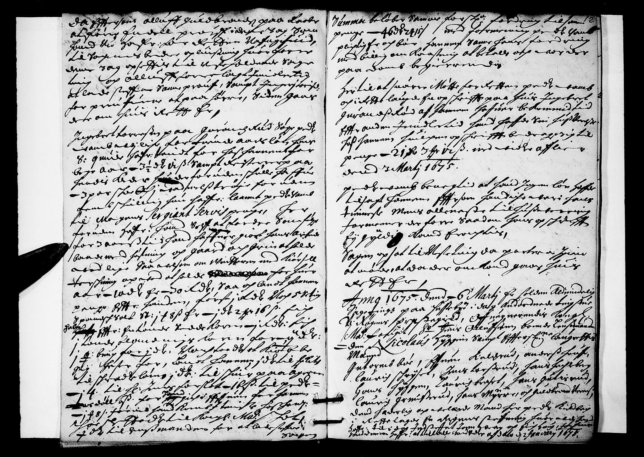 SAKO, Lier, Røyken og Hurum sorenskriveri, F/Fa/L0016: Tingbok, 1675, s. 12