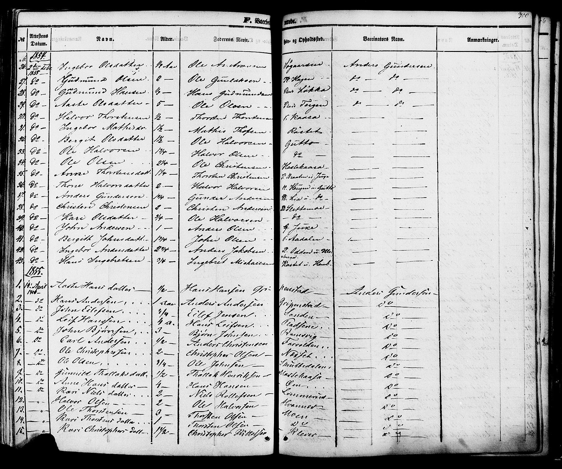 SAKO, Sauherad kirkebøker, F/Fa/L0007: Ministerialbok nr. I 7, 1851-1873, s. 300