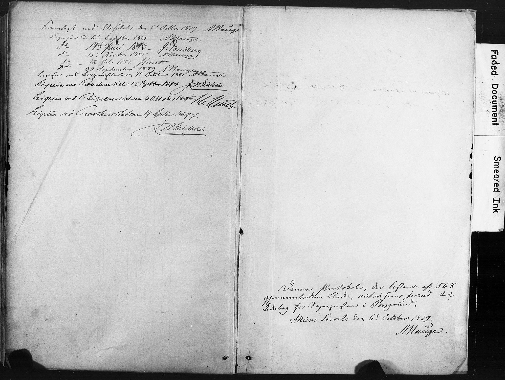 SAKO, Porsgrunn kirkebøker , F/Fa/L0008: Ministerialbok nr. 8, 1878-1895